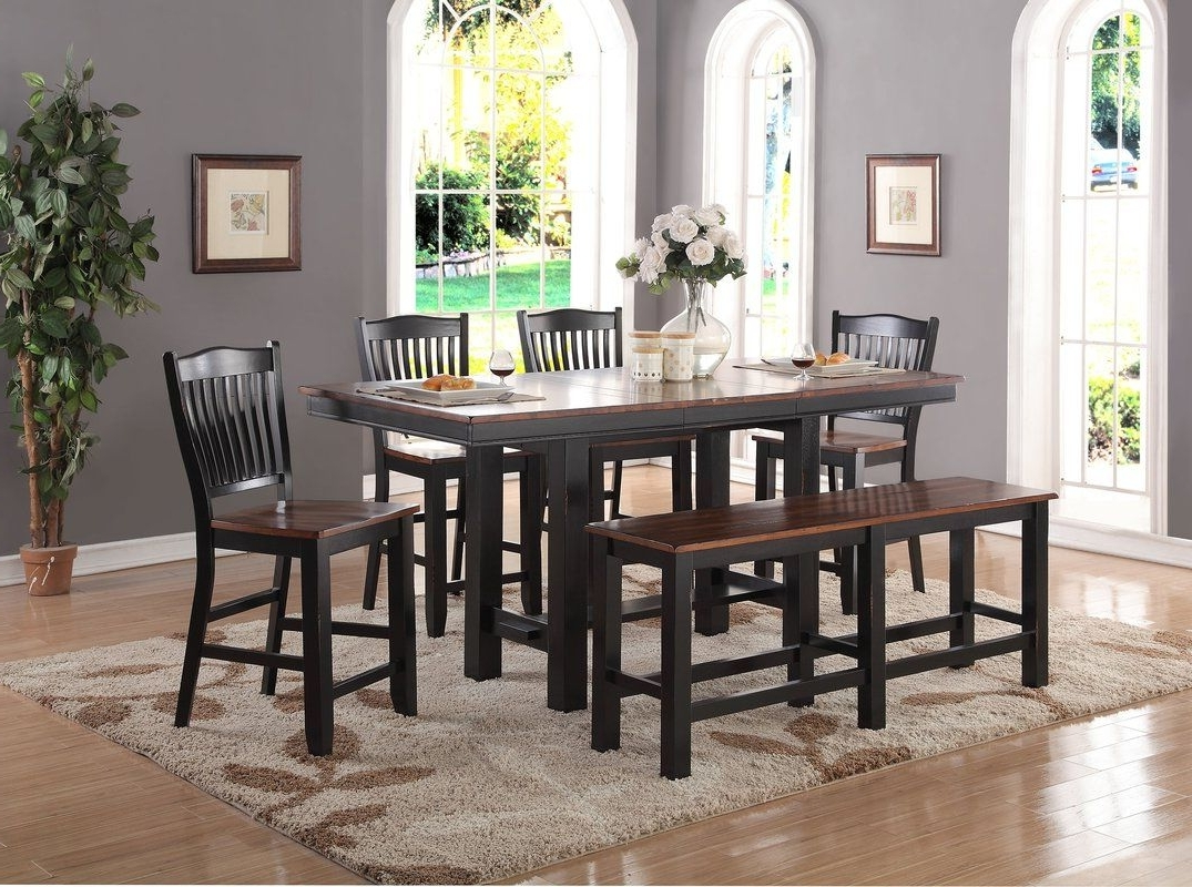 Manassa 6 Piece Extendable Solid Wood Dining Set In  (View 13 of 25)
