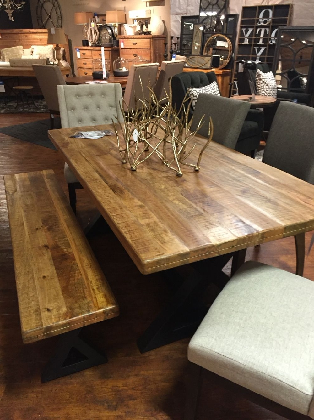 Mango Wood/iron Dining Tables Intended For Well Known Wesling Table (View 15 of 25)