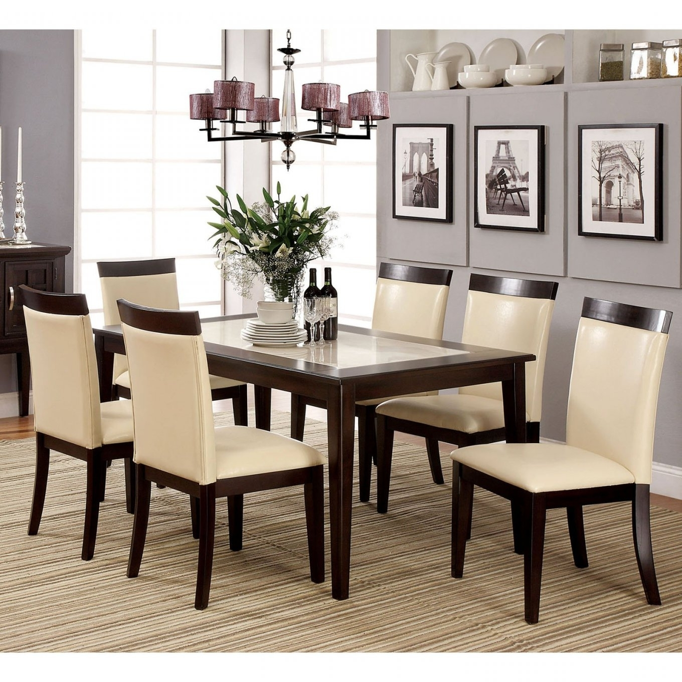 Marble Dining Room Table Set Throughout Recent Marble Dining Tables Sets (View 13 of 25)