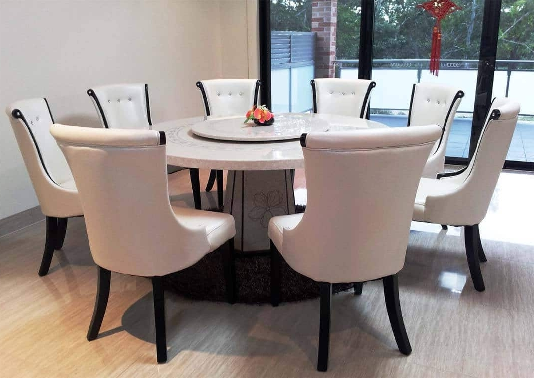 Marble Effect Dining Tables And Chairs Throughout Preferred Marble Dining Table Design Ideas, Cost And Tips – Sefa Stone (Gallery 9 of 25)