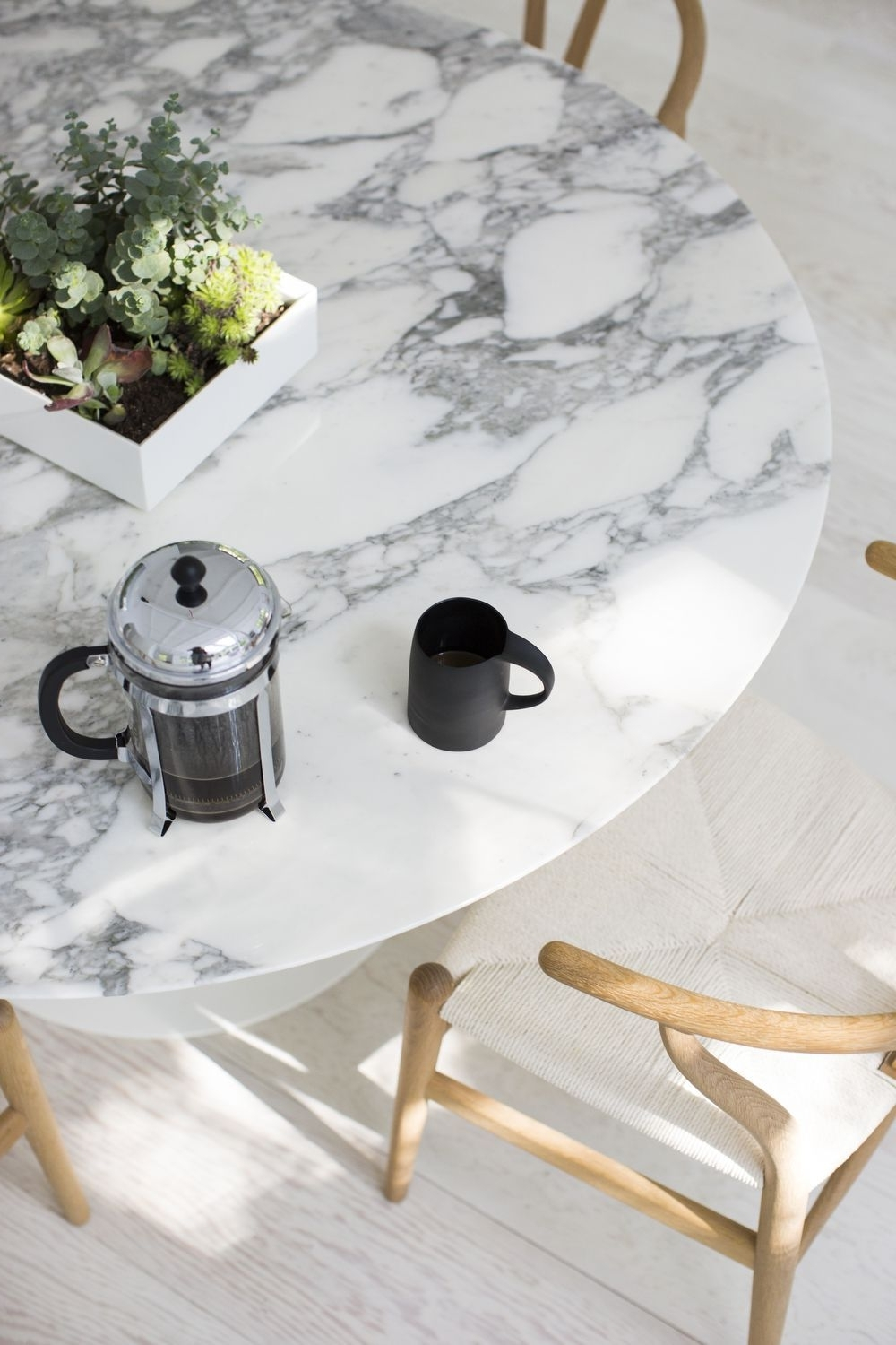 Marble Effect Dining Tables And Chairs With 2017 Cover The Old Oak Table With A Marble Look Tablecloth To Hide The (View 16 of 25)