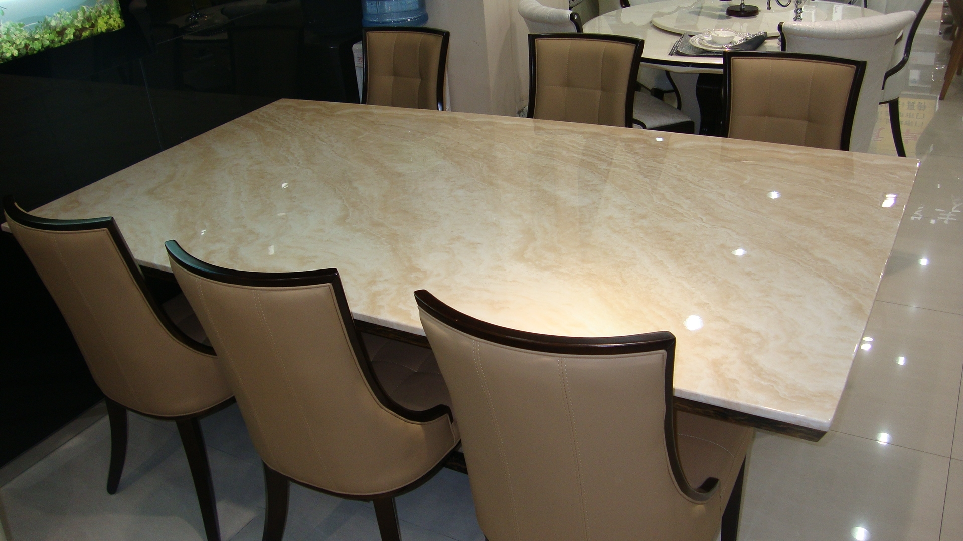 Marble King With Regard To Fashionable Dining Tables And 8 Chairs For Sale (View 19 of 25)