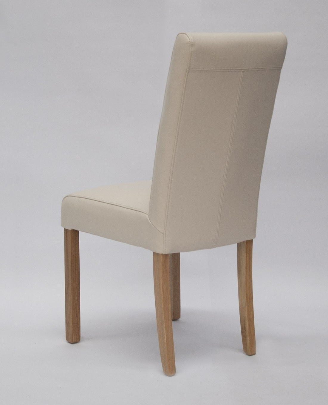 Marianna Cream Leather Dining Chair With Solid Oak Legs For Well Known Cream Leather Dining Chairs (View 19 of 25)
