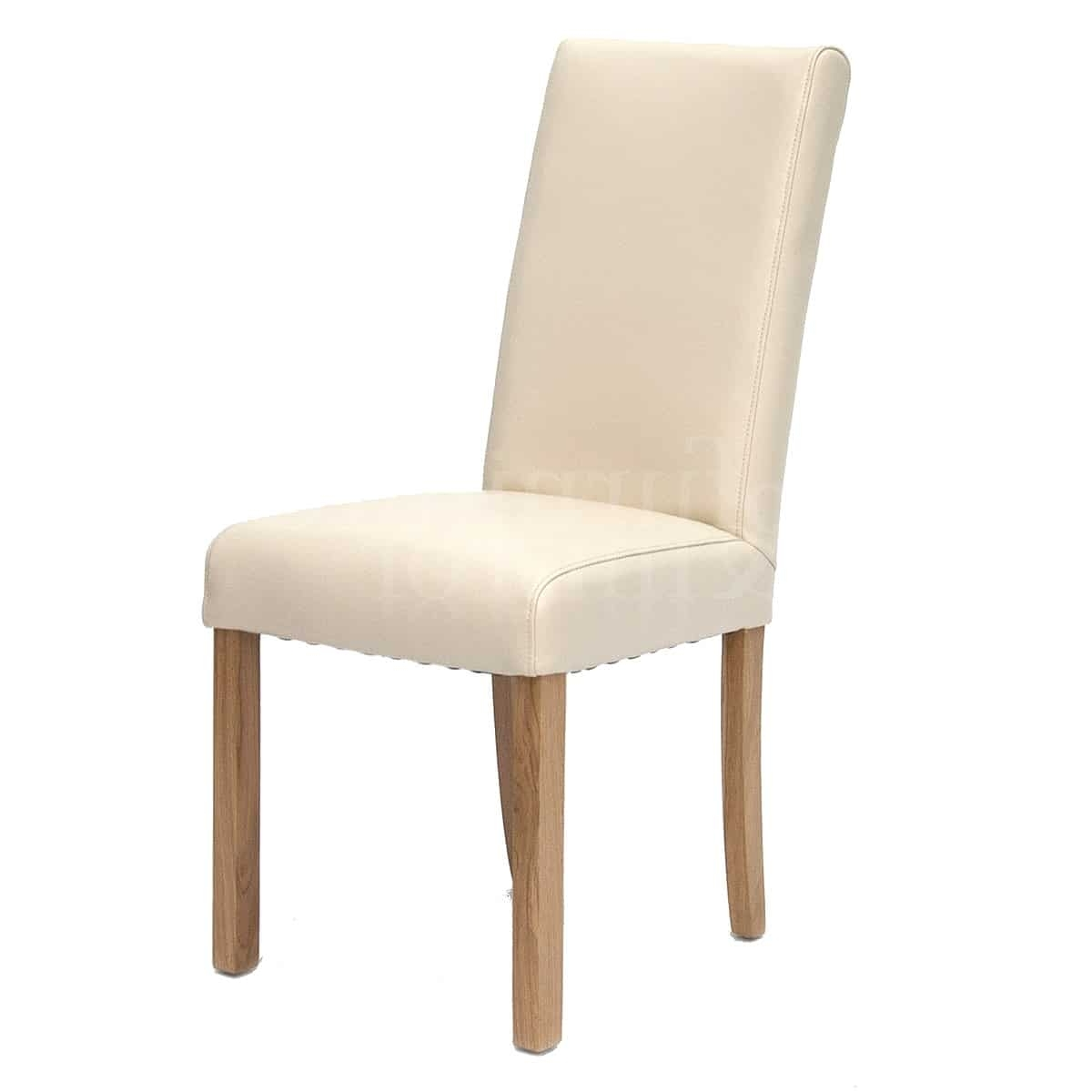 Marina Ivory Oak Leather Dining Chair – Furniture And Mirror Intended For Preferred Oak Leather Dining Chairs (View 17 of 25)