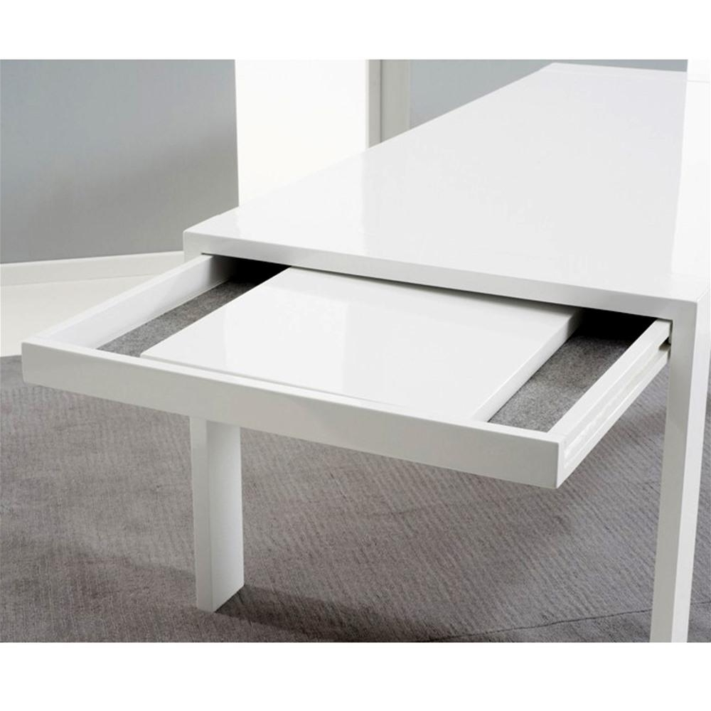 Mark Harris Venice White High Gloss 2M Extending Dining Table Inside Best And Newest High Gloss White Extending Dining Tables (View 23 of 25)