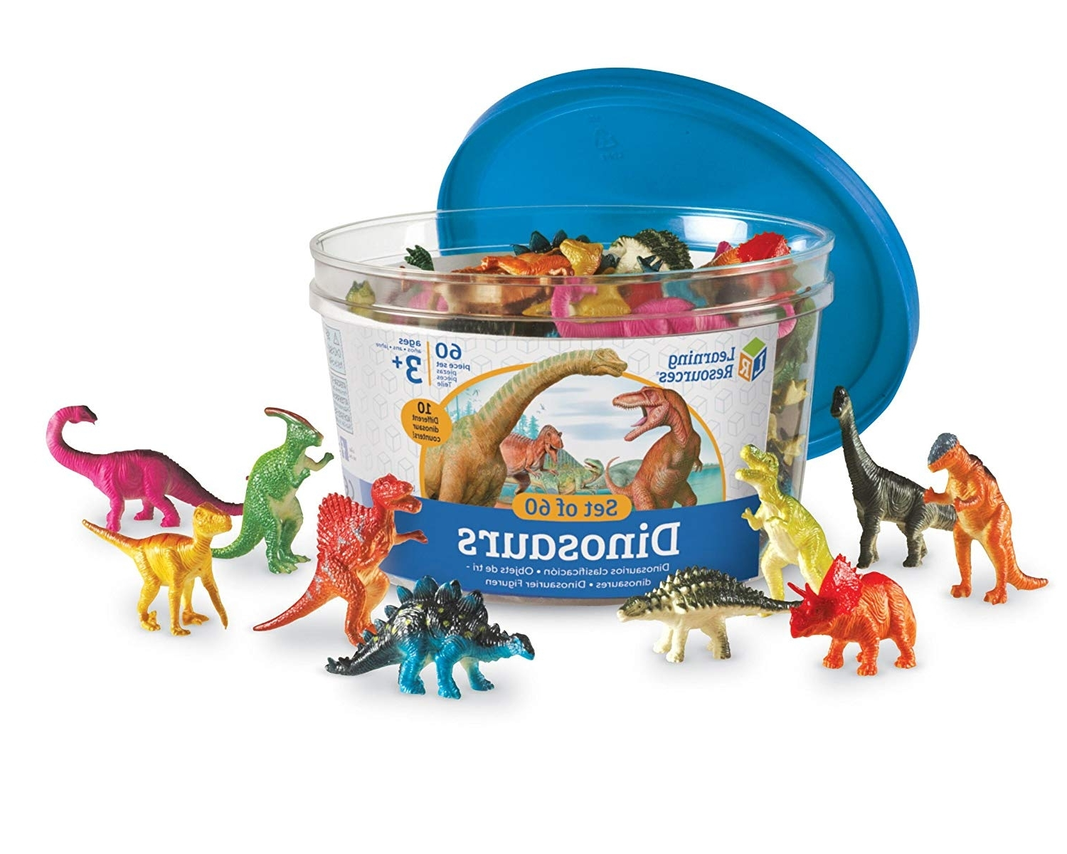 Market 7 Piece Counter Sets Throughout Latest Amazon: Learning Resources Dinosaur Counters, Set Of 60: Office (View 22 of 25)