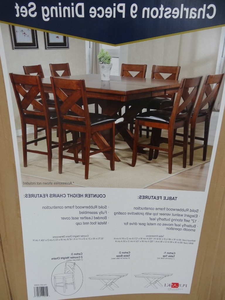 Market 7 Piece Counter Sets Throughout Well Liked Charleston 9 Piece Counter Height Dining Set (View 24 of 25)