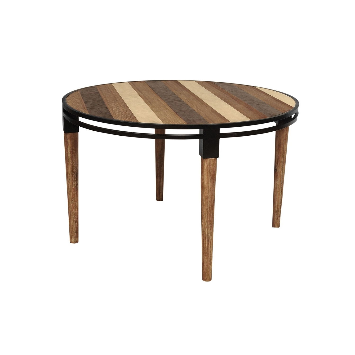 Medley Round Dining Table Acacia Wood Metal Base 48*48*30 – Td1283 Inside Best And Newest Acacia Dining Tables (View 19 of 25)