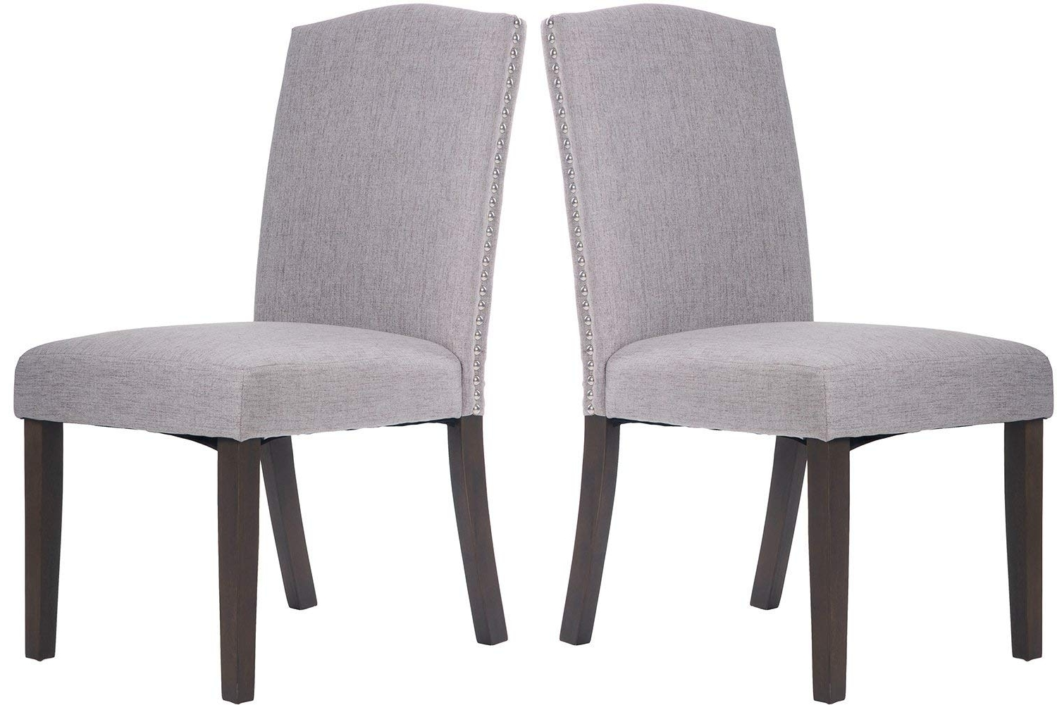 Merax Fabric Dining Chairs Set Of 2 With Solid Wood Legs Room For Most Recently Released Fabric Dining Room Chairs (Gallery 9 of 25)