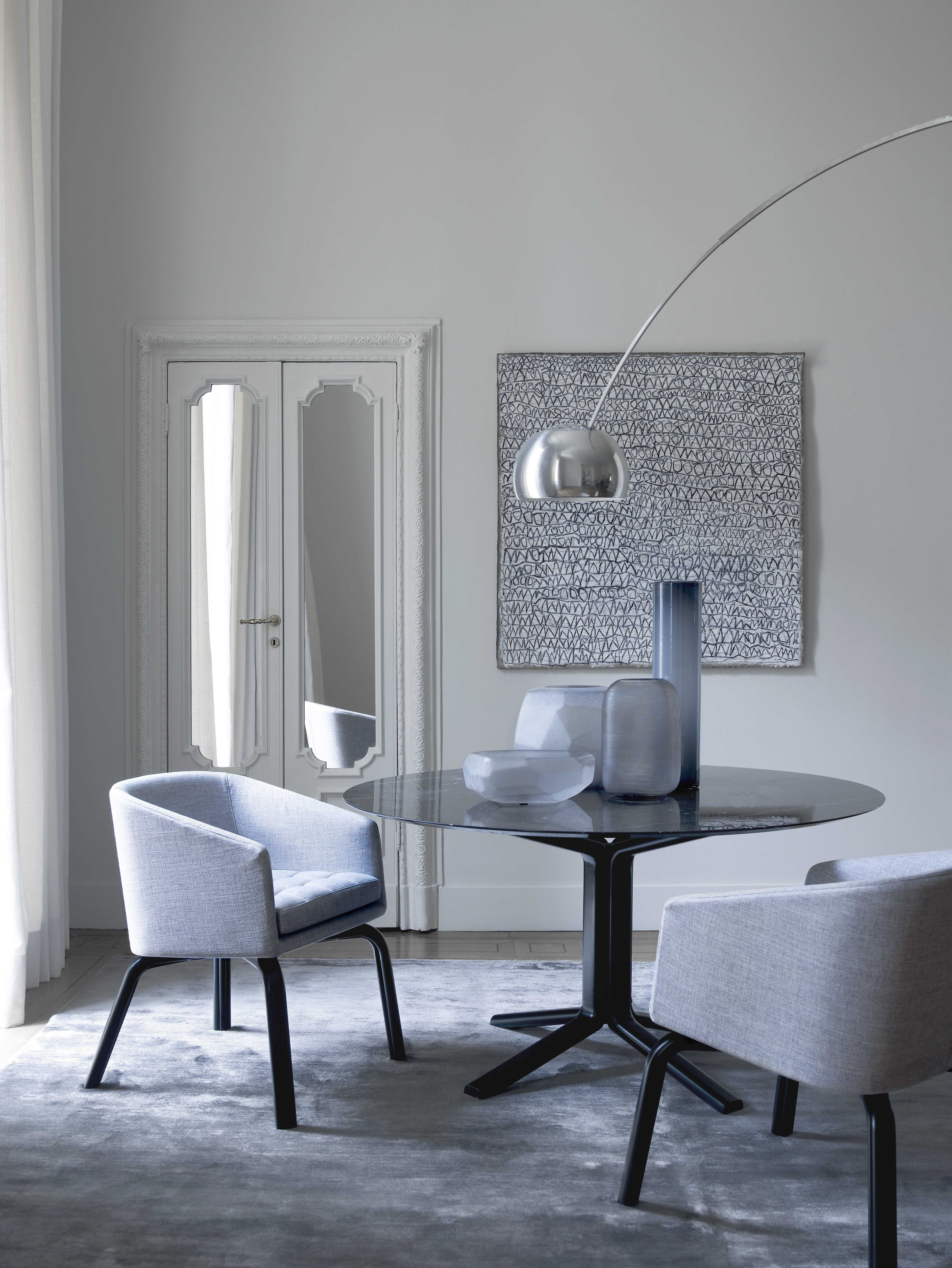 Meridiani I Miller Dining Table And Lolita Dining Chairs – Design With Latest Palazzo 7 Piece Dining Sets With Pearson Grey Side Chairs (Gallery 8 of 25)