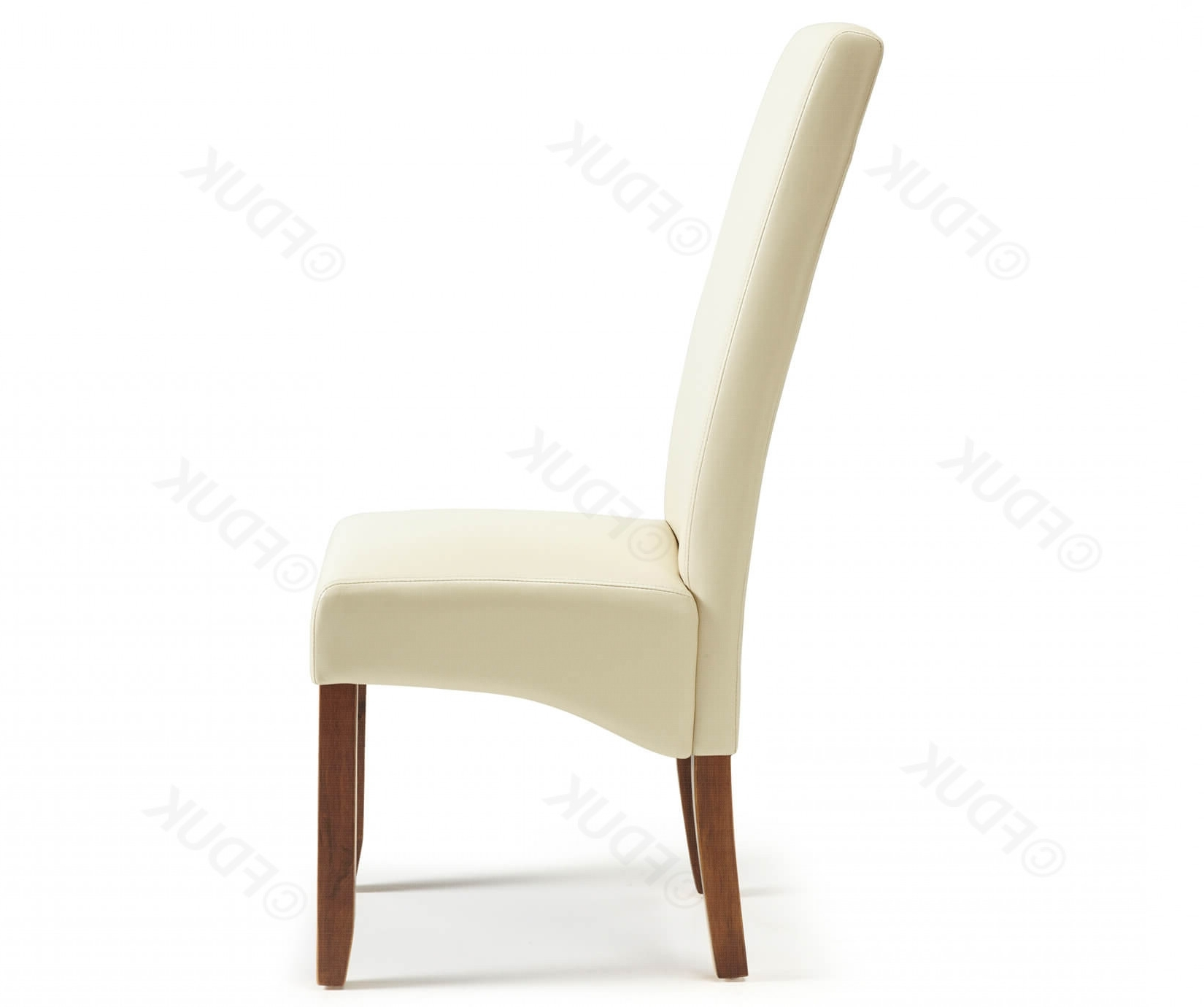 Merton Cream Faux Leather Dining Chairs With Intended For Cream Faux Leather Dining Chairs (Gallery 1 of 25)