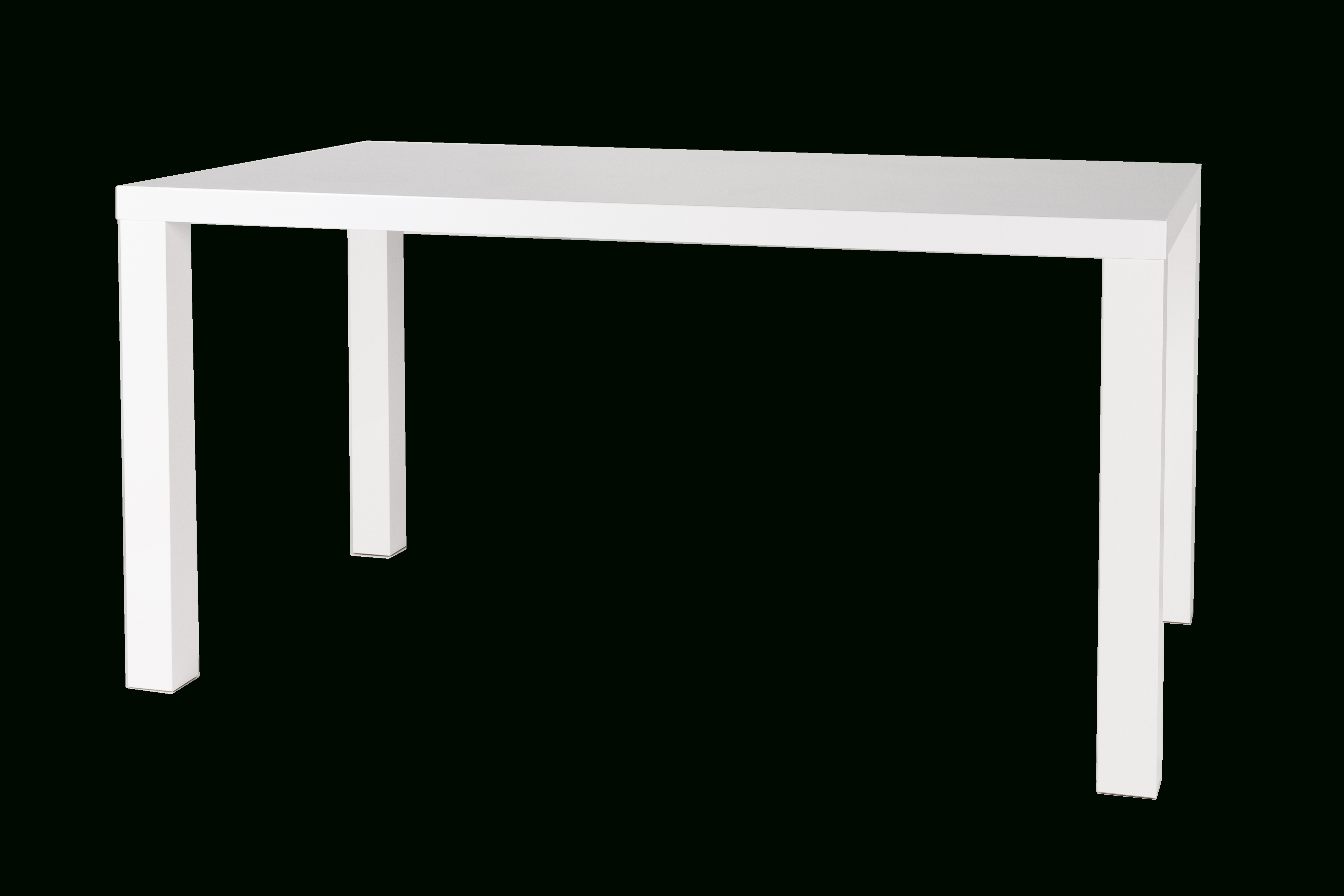 Metro Dining Table – Gloss White With Square Legs Regarding Metro Dining Tables (View 11 of 25)
