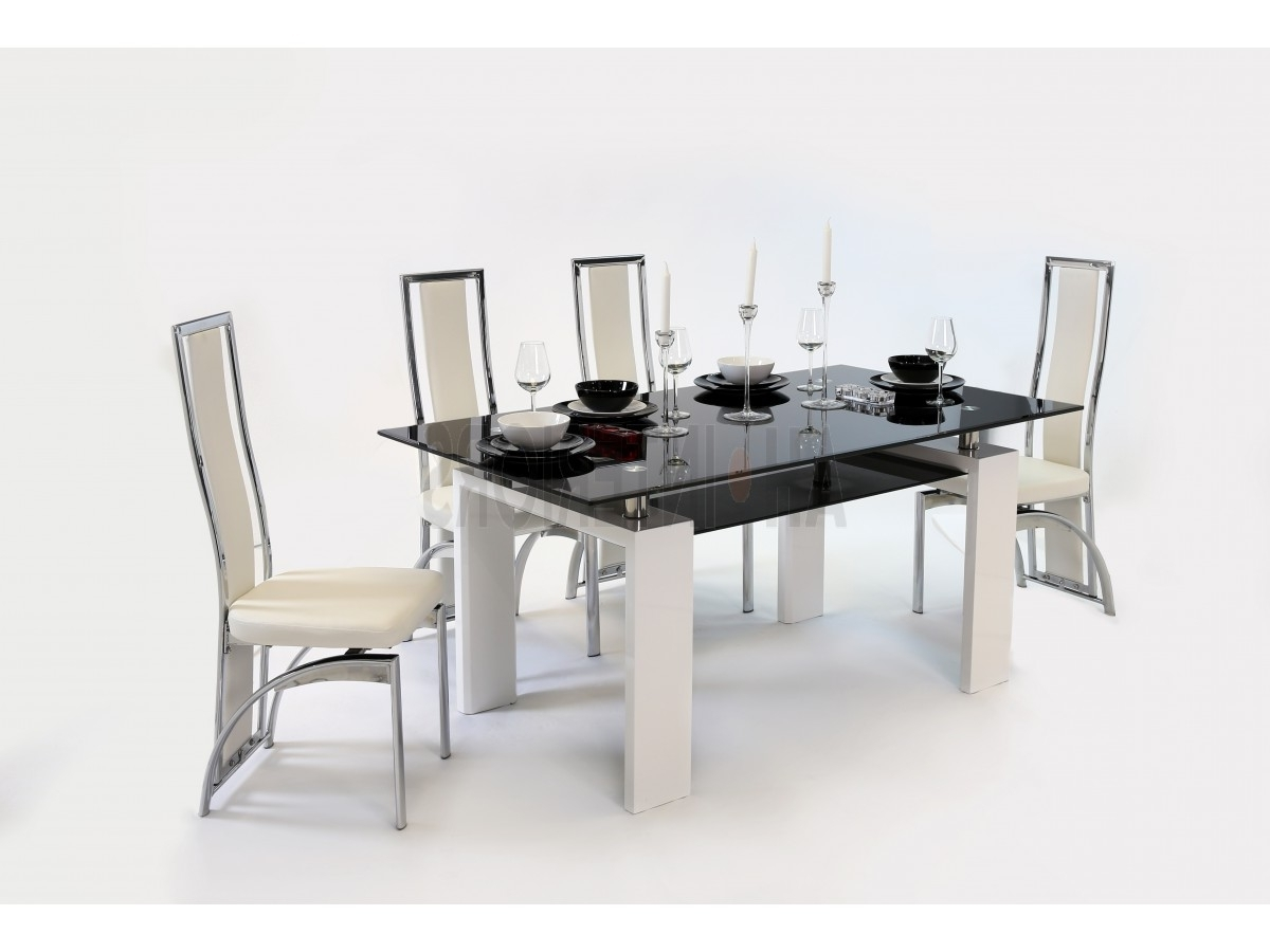Metro Dining Table With Mayfair Chairs/white Within Widely Used Metro Dining Tables (View 14 of 25)