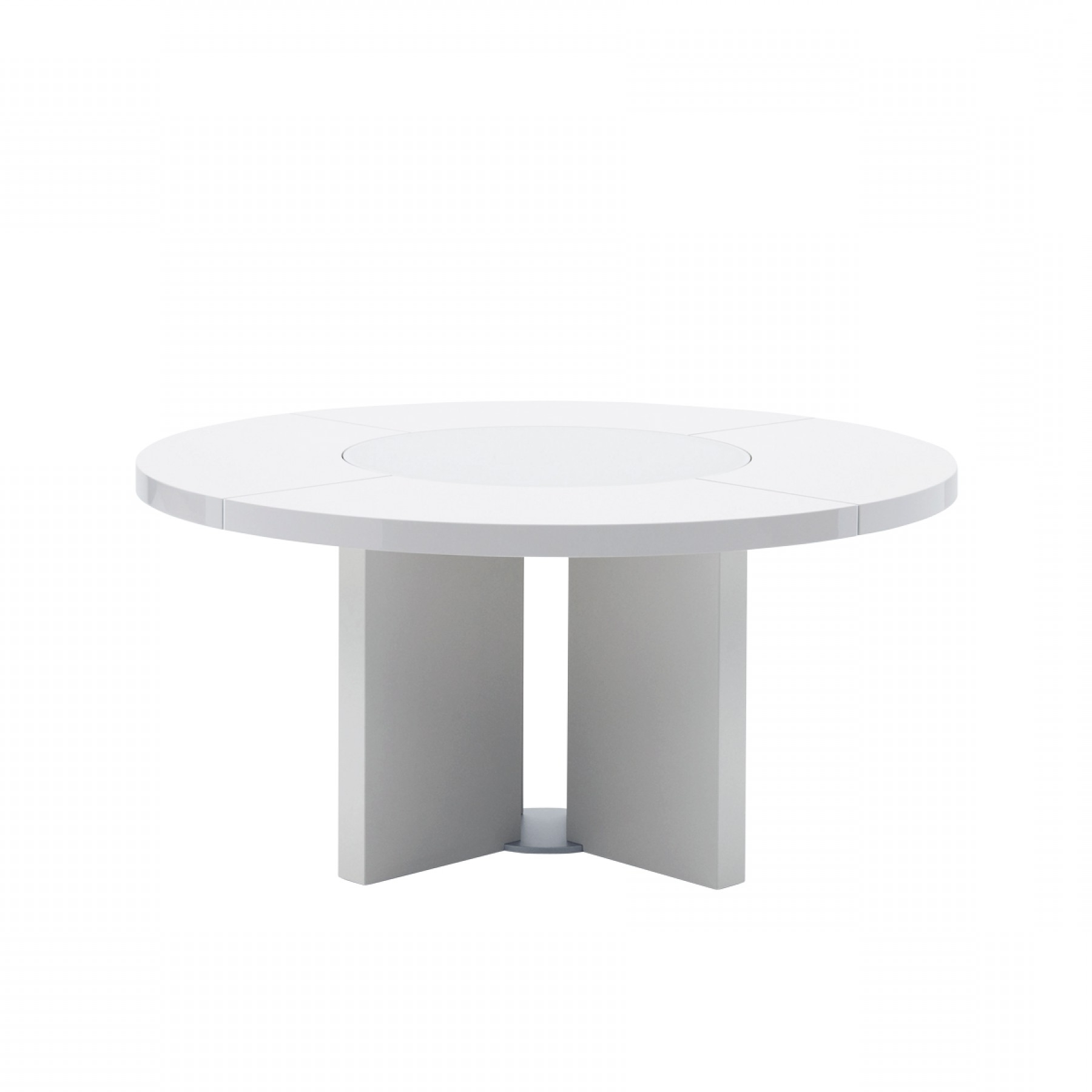 Midollo Glossy White Dining Table – Beyond Furniture Pertaining To Most Up To Date Round White Dining Tables (View 17 of 25)