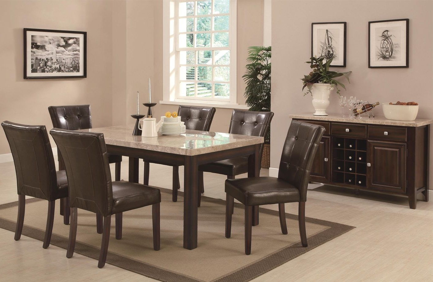 Milton Cappuccino Wood And Marble Dining Table – Steal A Sofa Within 2018 Milton Dining Tables (View 20 of 25)