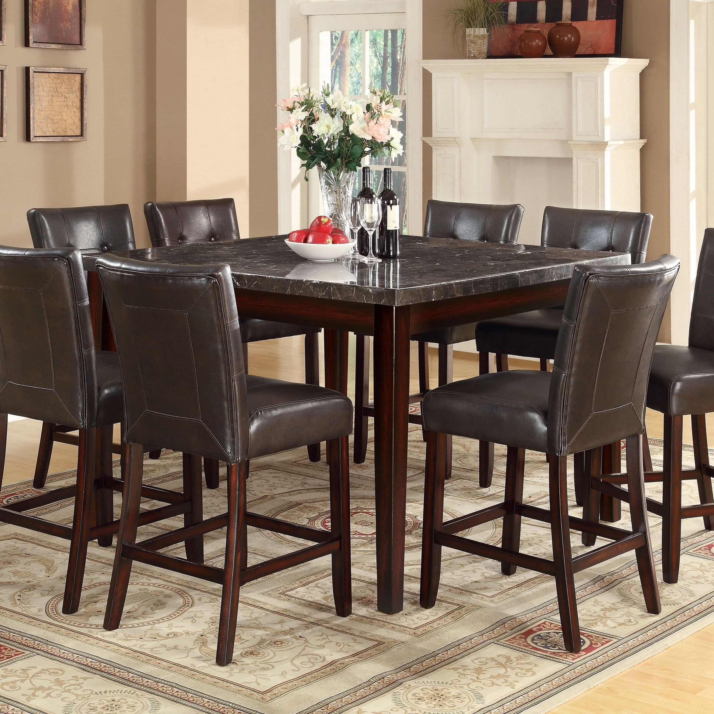 Milton Dining Tables With Preferred Shop Coaster Company Milton Cappuccino Marble Top Dining Table (View 15 of 25)