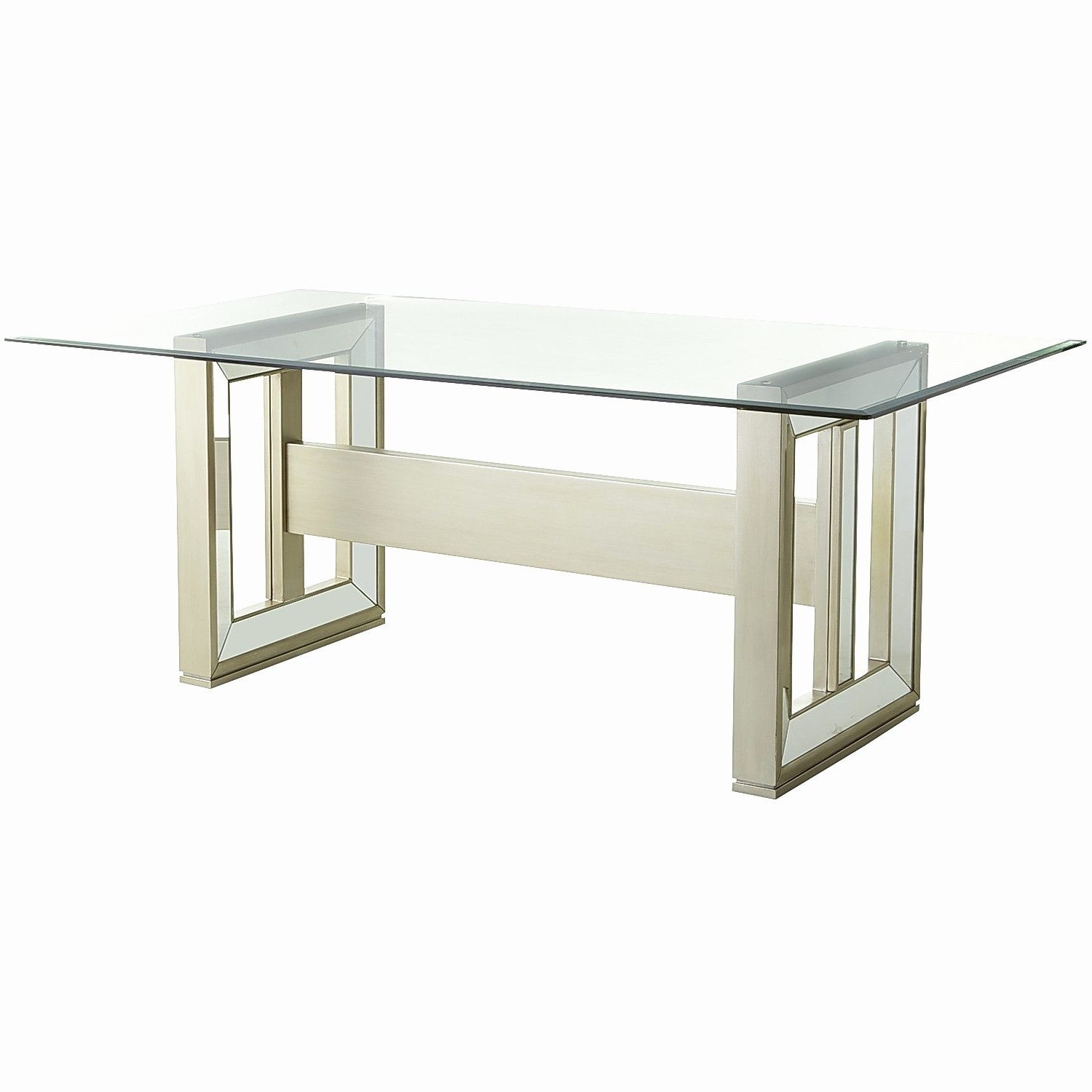 Mirror Glass Dining Tables In Well Known Beautiful Sophie Mirrored Dining Table (View 10 of 25)