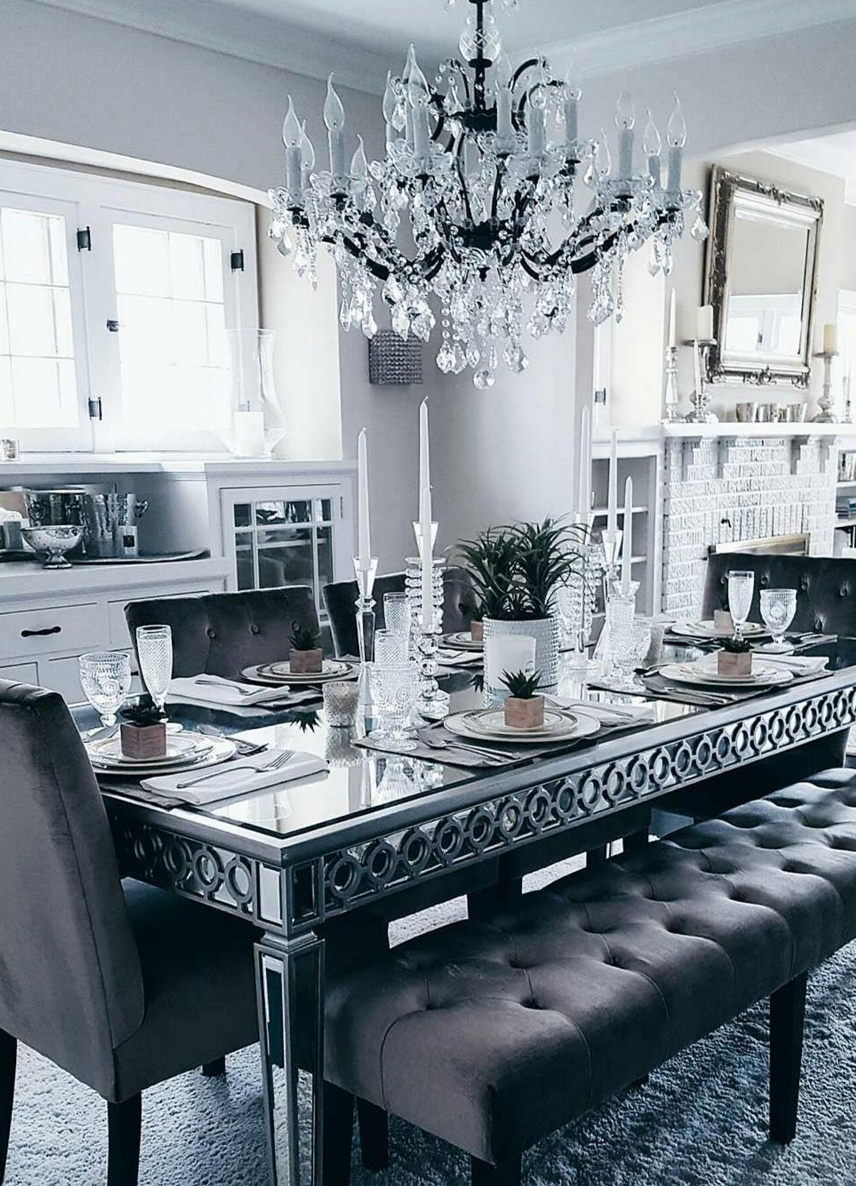 Mirrored Dining Tables For Fashionable Nothing Like Kicking Off The Weekend With A Dinner Party Designed To (View 11 of 25)