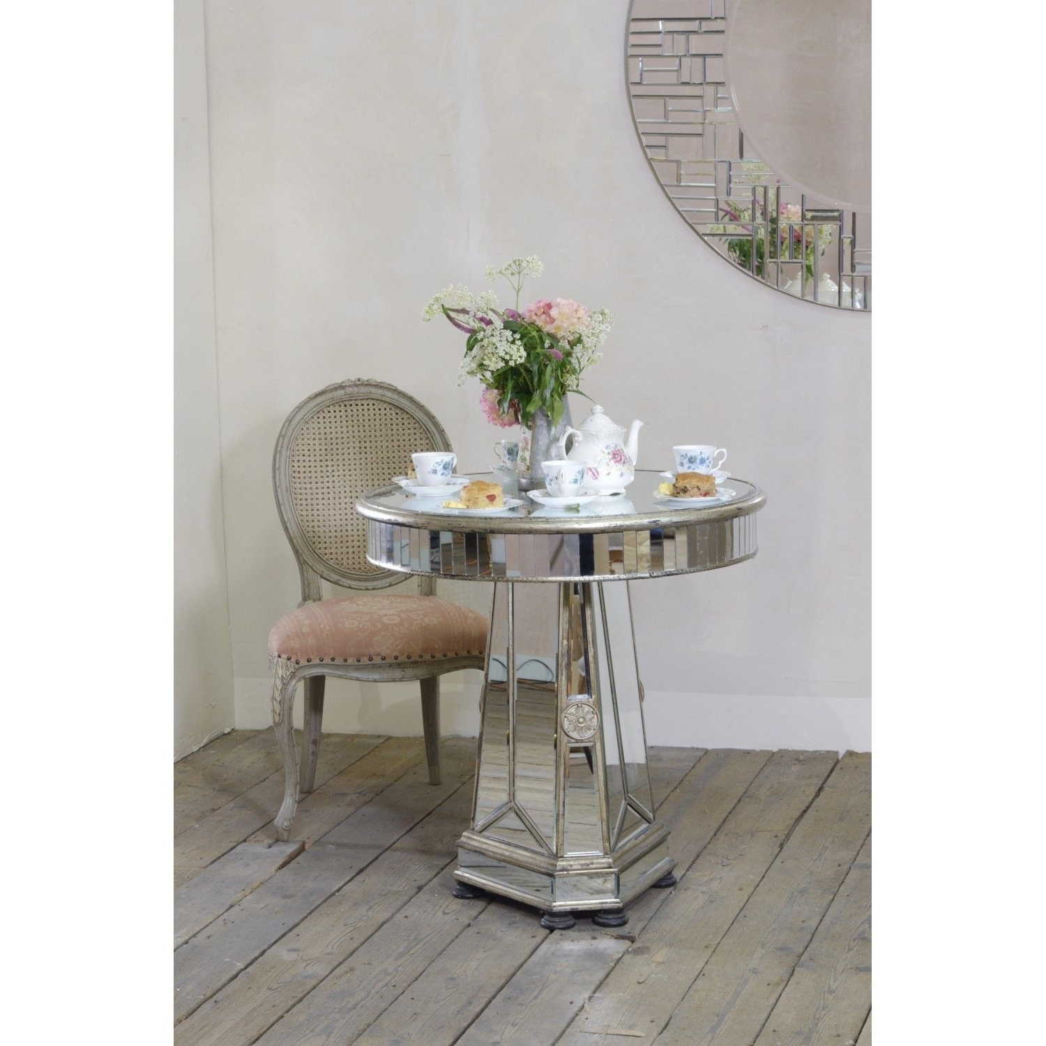 Mirrored Venetian Small Round Dining Table – Silver In Most Up To Date Mirrored Dining Tables (View 14 of 25)