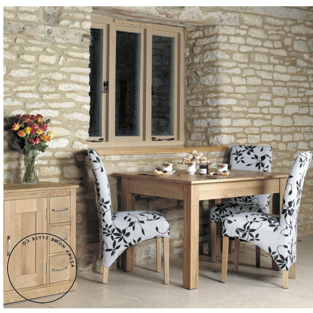 Mobel Oak Dining Table (4 Seater) – Azura Home Style With Favorite Small 4 Seater Dining Tables (View 14 of 25)