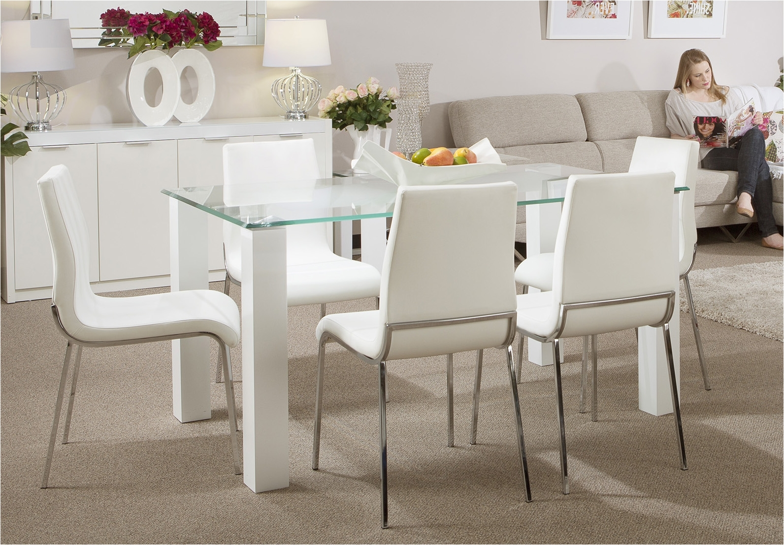 Modern Dining Suites Pertaining To Most Up To Date Dining: Modern Dining Suites (Gallery 2 of 25)