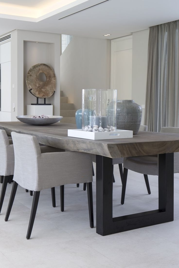 Modern Dining Tables Pertaining To Most Popular Mid Century Modern Dining Room Expandable Table West Elm Extension (View 10 of 25)