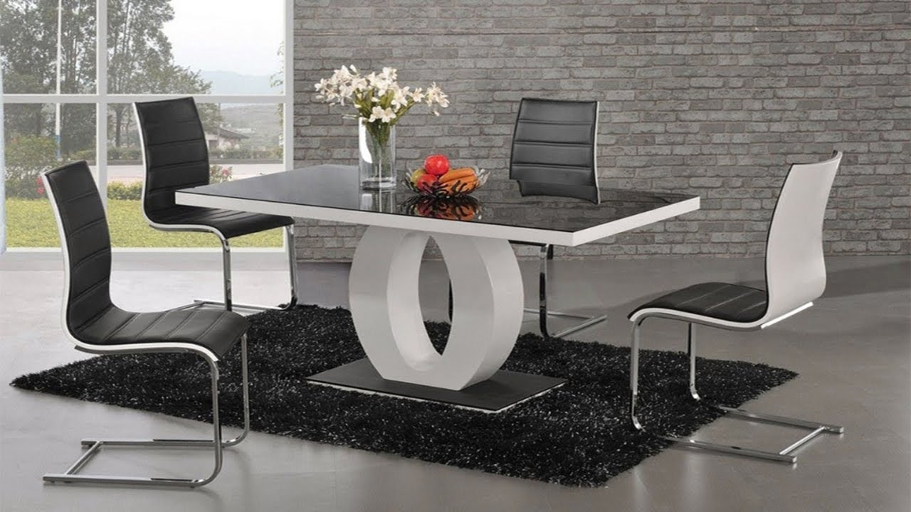 Modern Dining Tables Pertaining To Recent Beautiful Wood And Glass Design Dining Table (View 11 of 25)