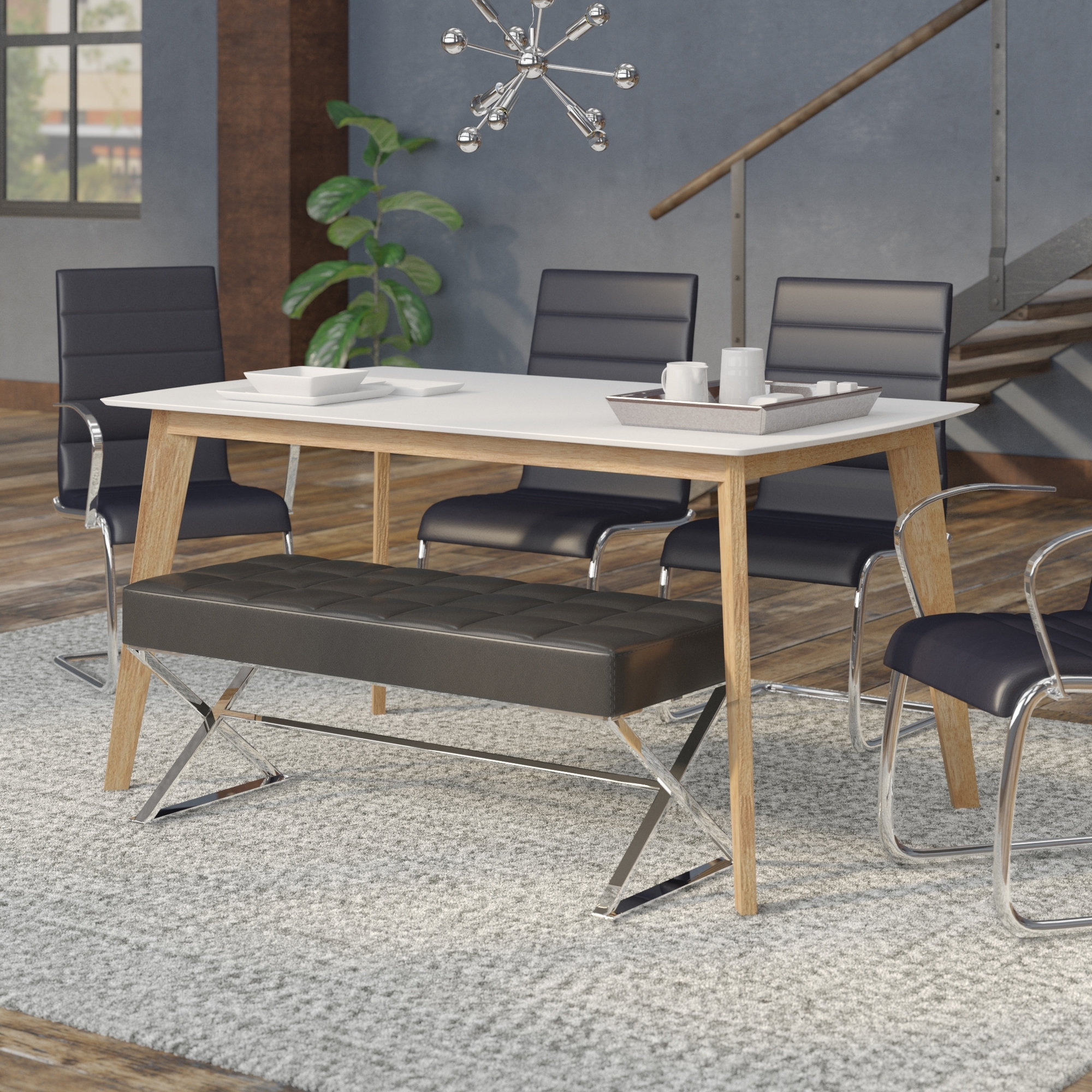 Modern Dining Tables Throughout Current Mercury Row Hummer Retro Modern Dining Table & Reviews (View 13 of 25)