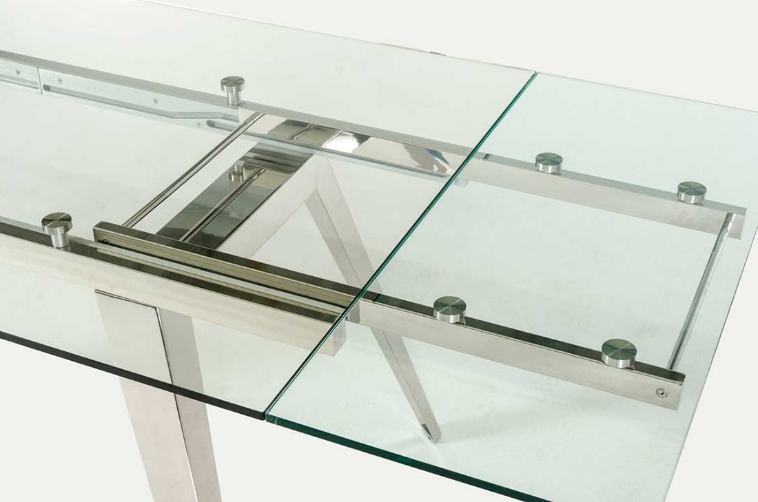 Modern Dining With Regard To Well Known Extendable Glass Dining Tables (View 11 of 25)