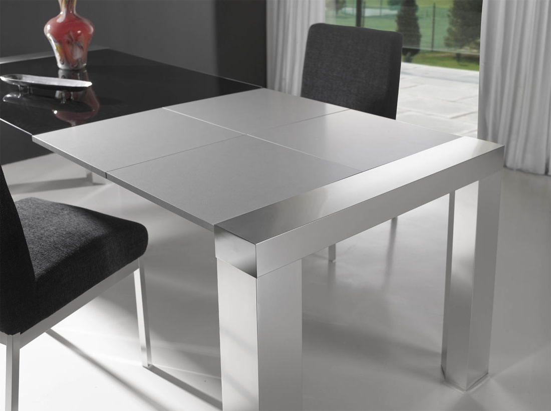 Modern Expandable Dining Table — Burlap & Honey Decor : Comfort And Pertaining To Fashionable White Square Extending Dining Tables (View 7 of 25)