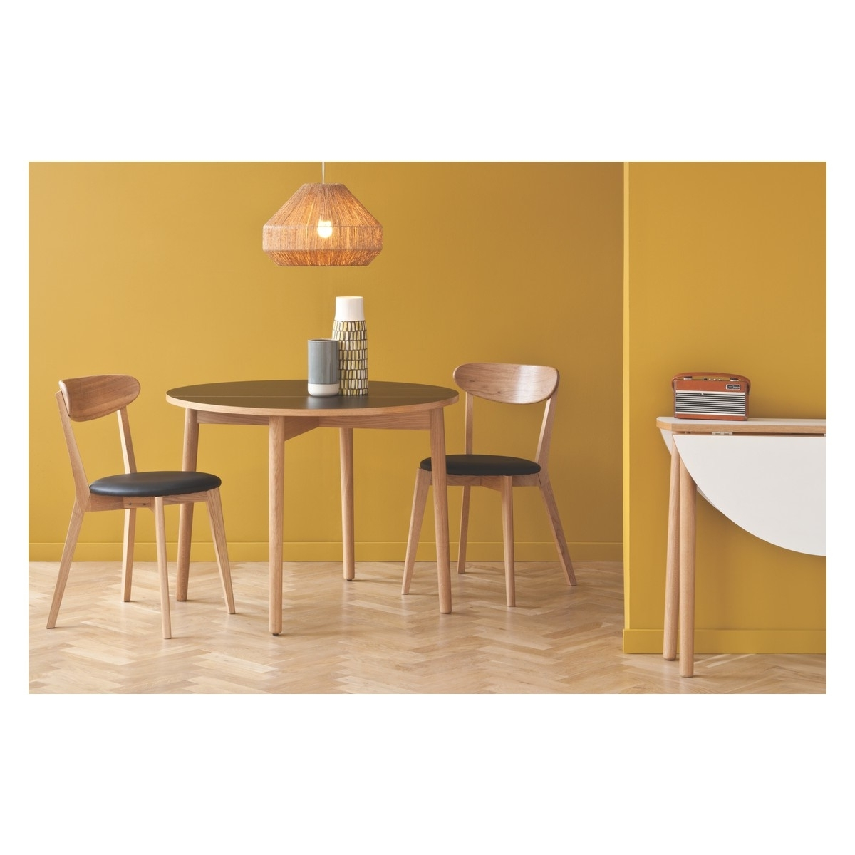 Modern Round Wooden Two Seater Dining Table With Chairs Of Great Two Throughout Widely Used Two Seater Dining Tables (View 13 of 25)