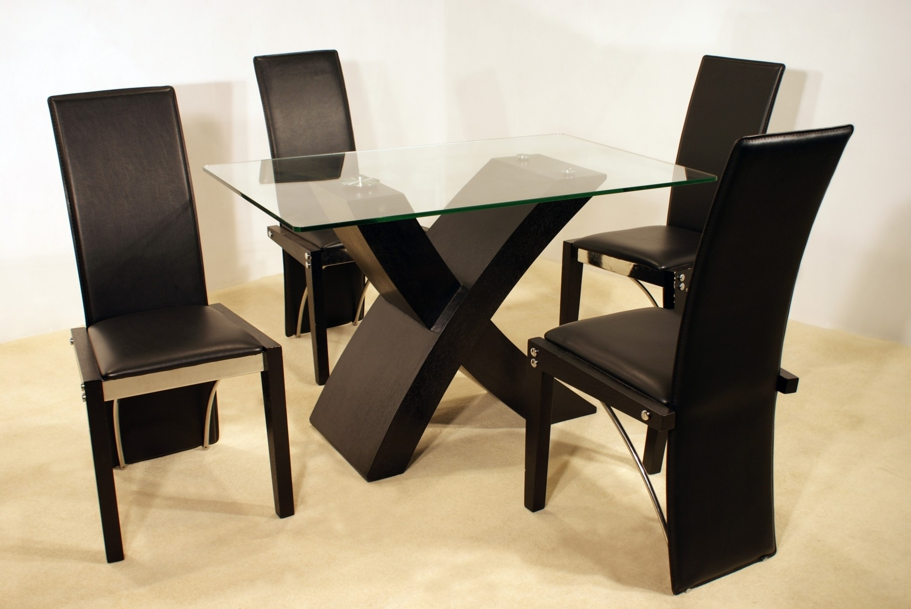 Modern Square Dining Tables For 4 From Glass Material Of Amazing In Newest Square Black Glass Dining Tables (View 23 of 25)