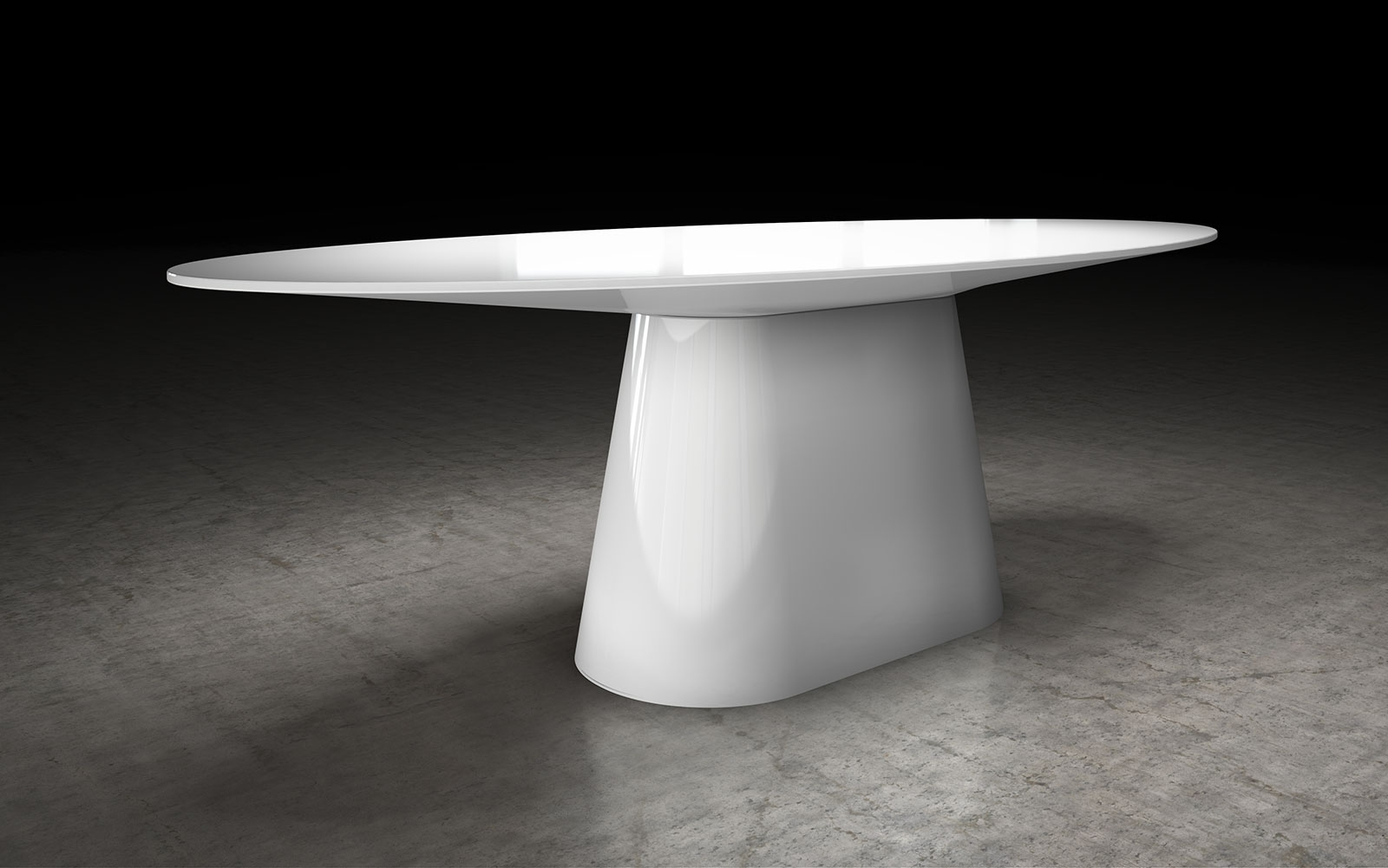 Modloft Sullivan Dining Table Md510 Official Store For Most Popular White High Gloss Oval Dining Tables (View 9 of 25)