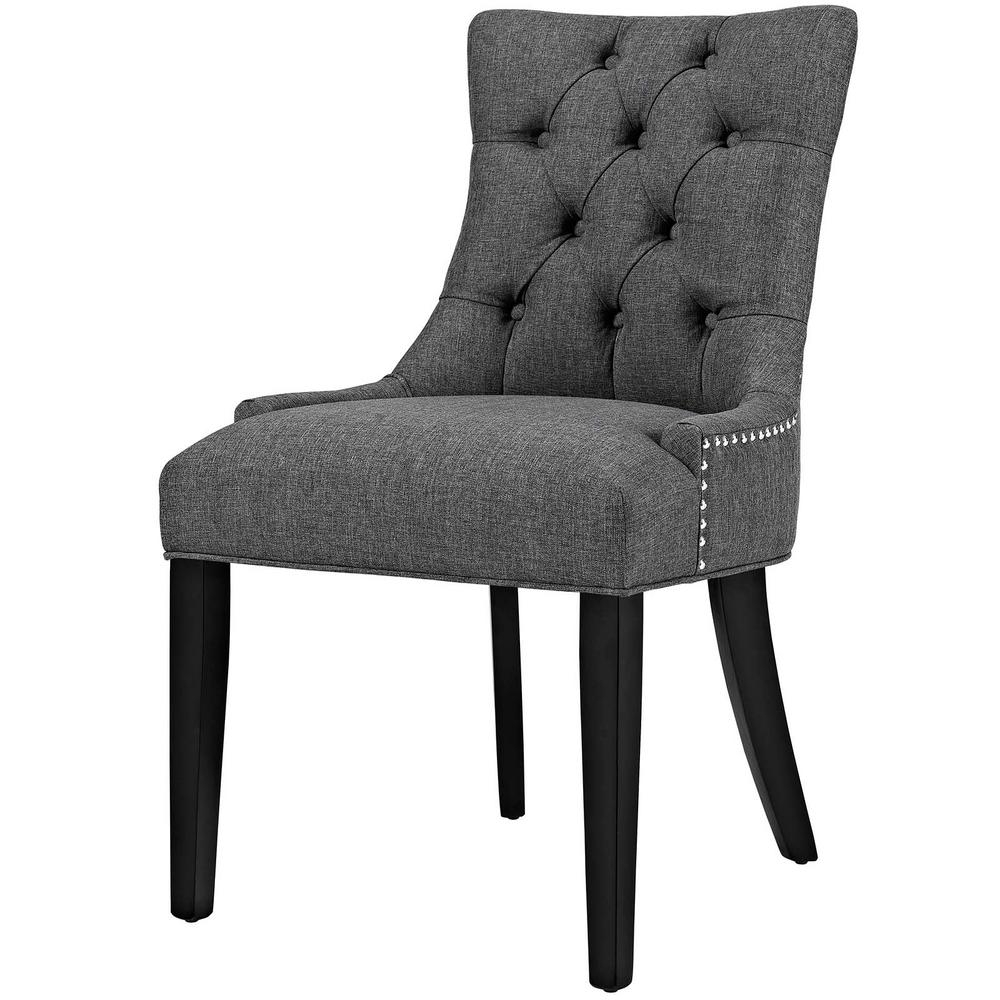 Modway Regent Gray Fabric Dining Chair Eei 2223 Gry – The Home Depot In Most Current Dining Chairs (View 18 of 25)