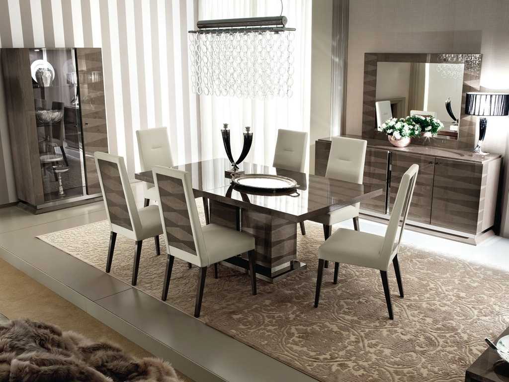 Monaco 10Pc Dining Set – Contemporary Modern Italian Furniture Store Regarding Most Recent Monaco Dining Tables (View 9 of 25)