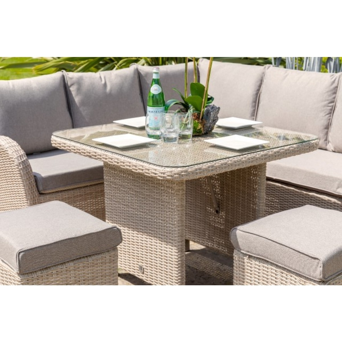 Monaco Dining Sets With Favorite Leisure Grow Monaco Compact Modular Dining Set (View 11 of 25)