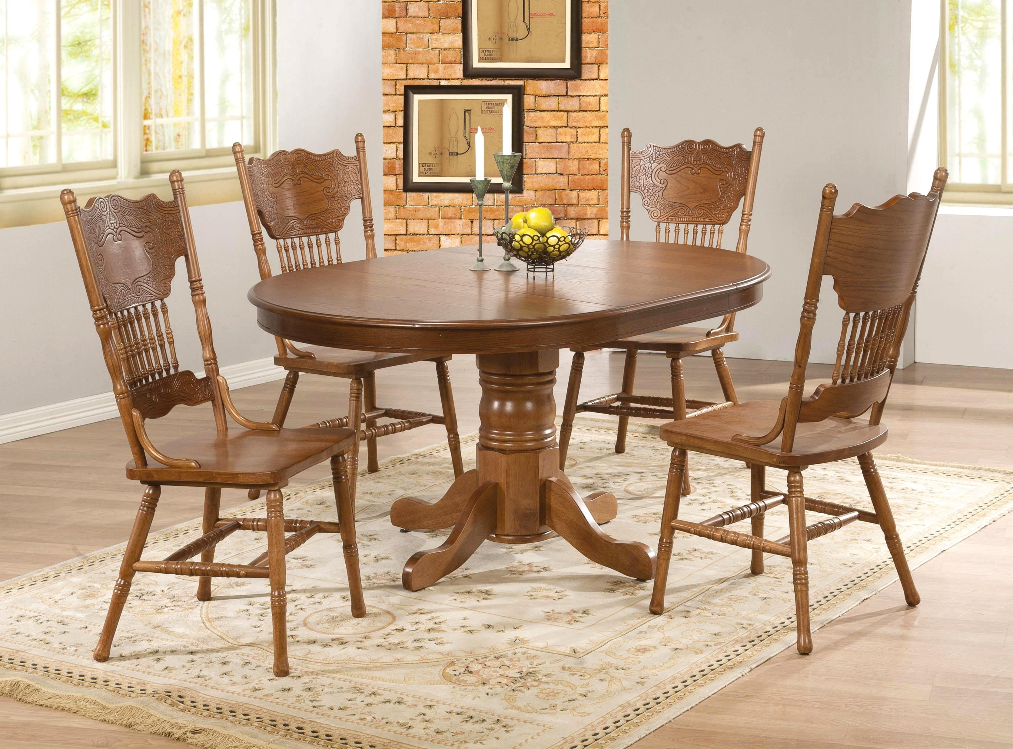 Most Current 31 Oval Oak Dining Table Chairs Catalouge – Edmaps Home Decoration Pertaining To Oval Oak Dining Tables And Chairs (View 11 of 25)