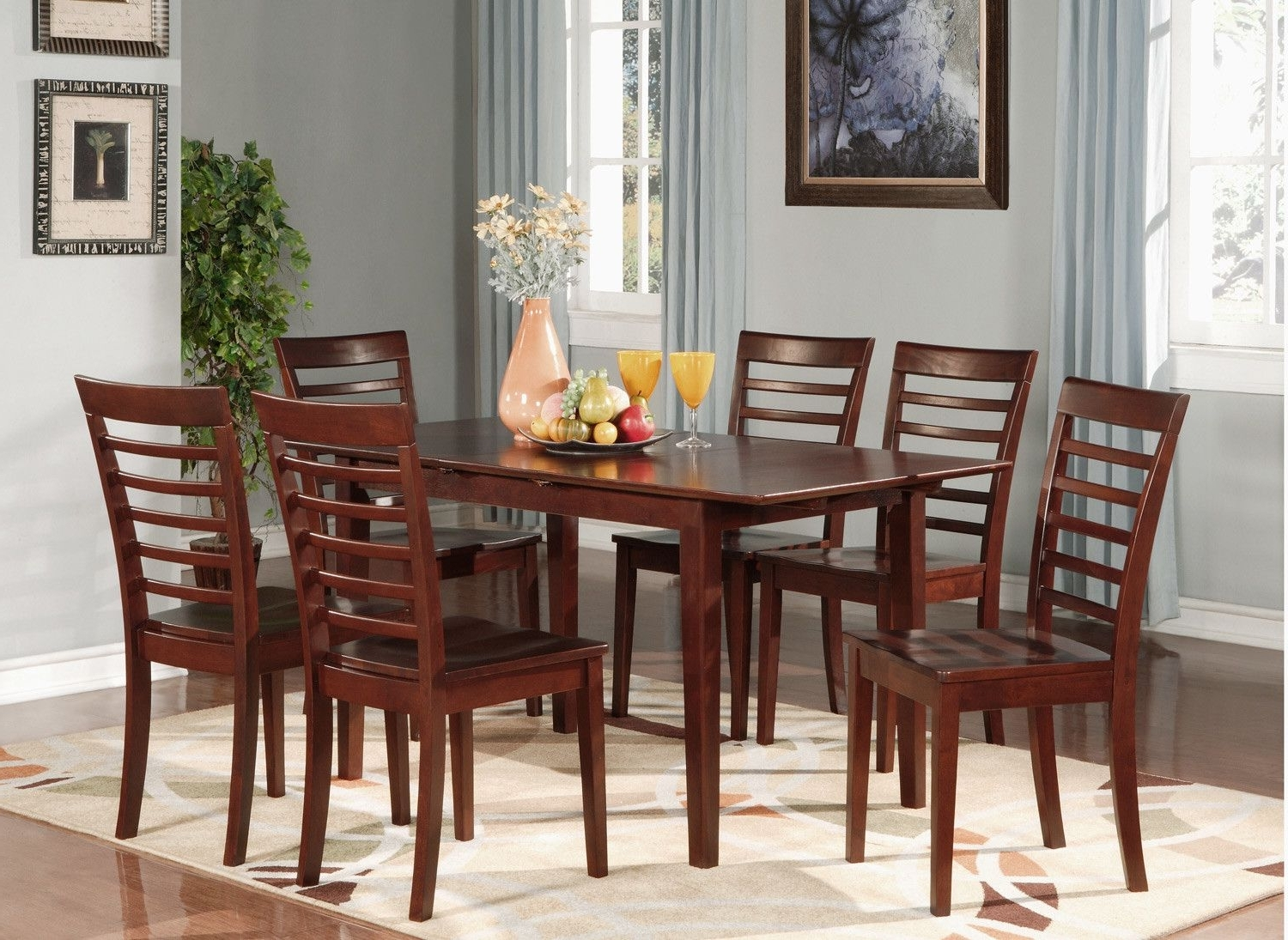 Most Current 7 Piece Jamia Dining Set (View 23 of 25)