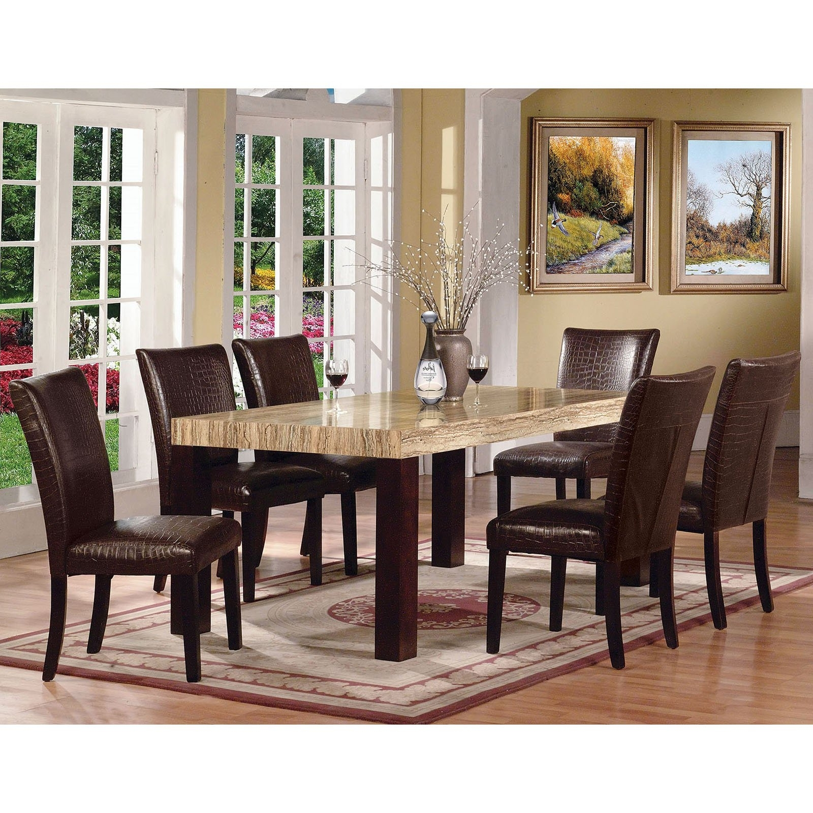 Most Current Acme Furniture Fraser 7 Piece Rectangular Dining Table Set (View 17 of 25)