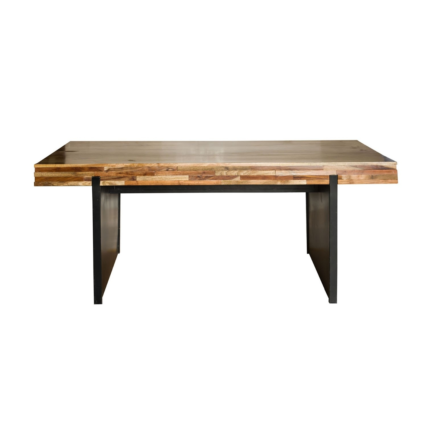 Most Current Brick Small Dining Table / Iron & Mango Wood / Natural Finish / 64 Throughout Mango Wood/iron Dining Tables (View 17 of 25)