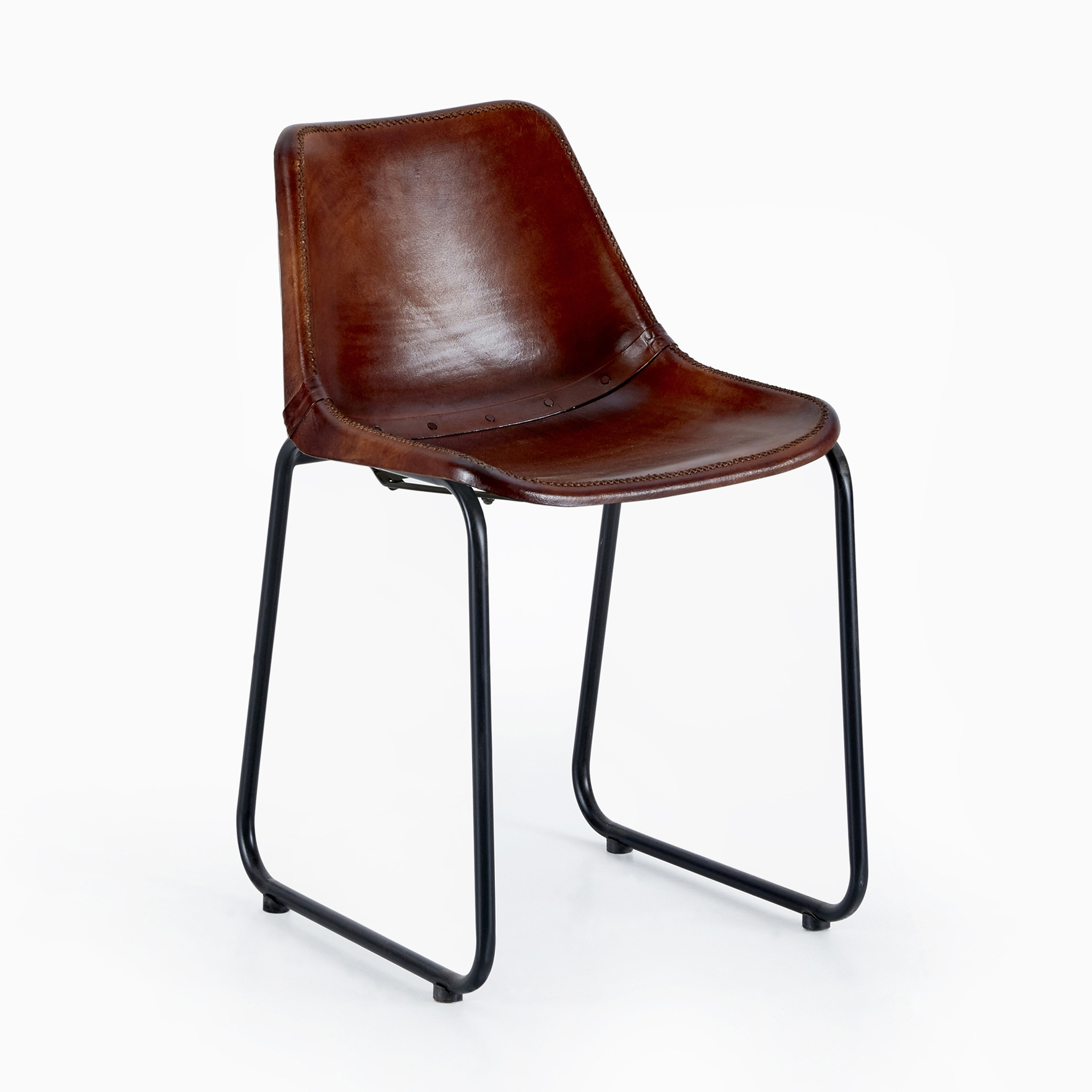 Most Current Brown Vintage Leather Bucket Chair – Heyl Interiors Within Brown Leather Dining Chairs (View 13 of 25)