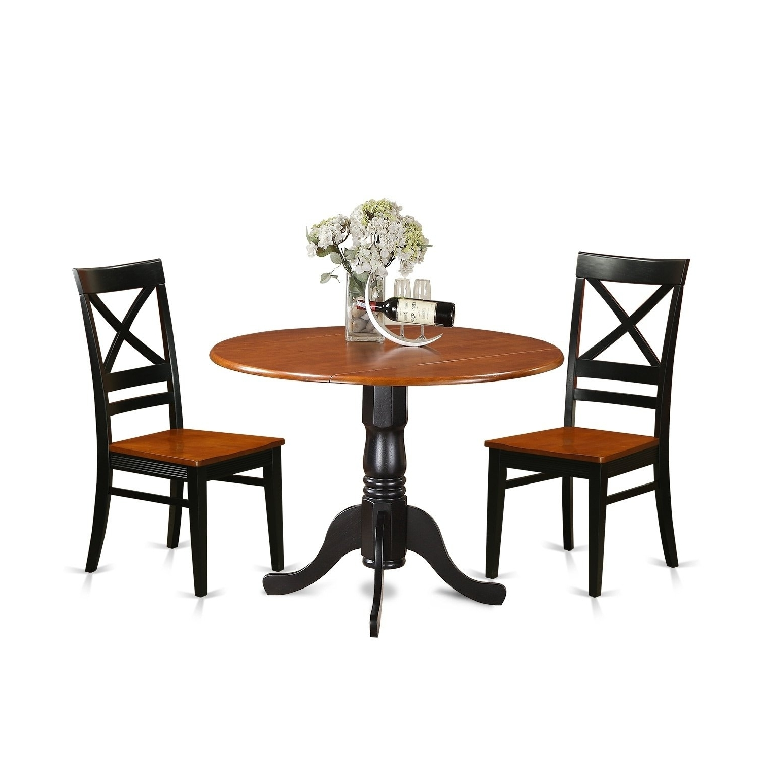 Most Current Caden 6 Piece Rectangle Dining Sets For Dlqu3 W 3 Pc Kitchen Table Set Dining Table And 2 Kitchen Chairs (View 16 of 25)