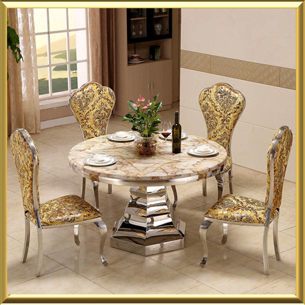 Most Current China Modern Round Marble Top Royal Style Ba105 Dining Table – China With Royal Dining Tables (View 13 of 25)