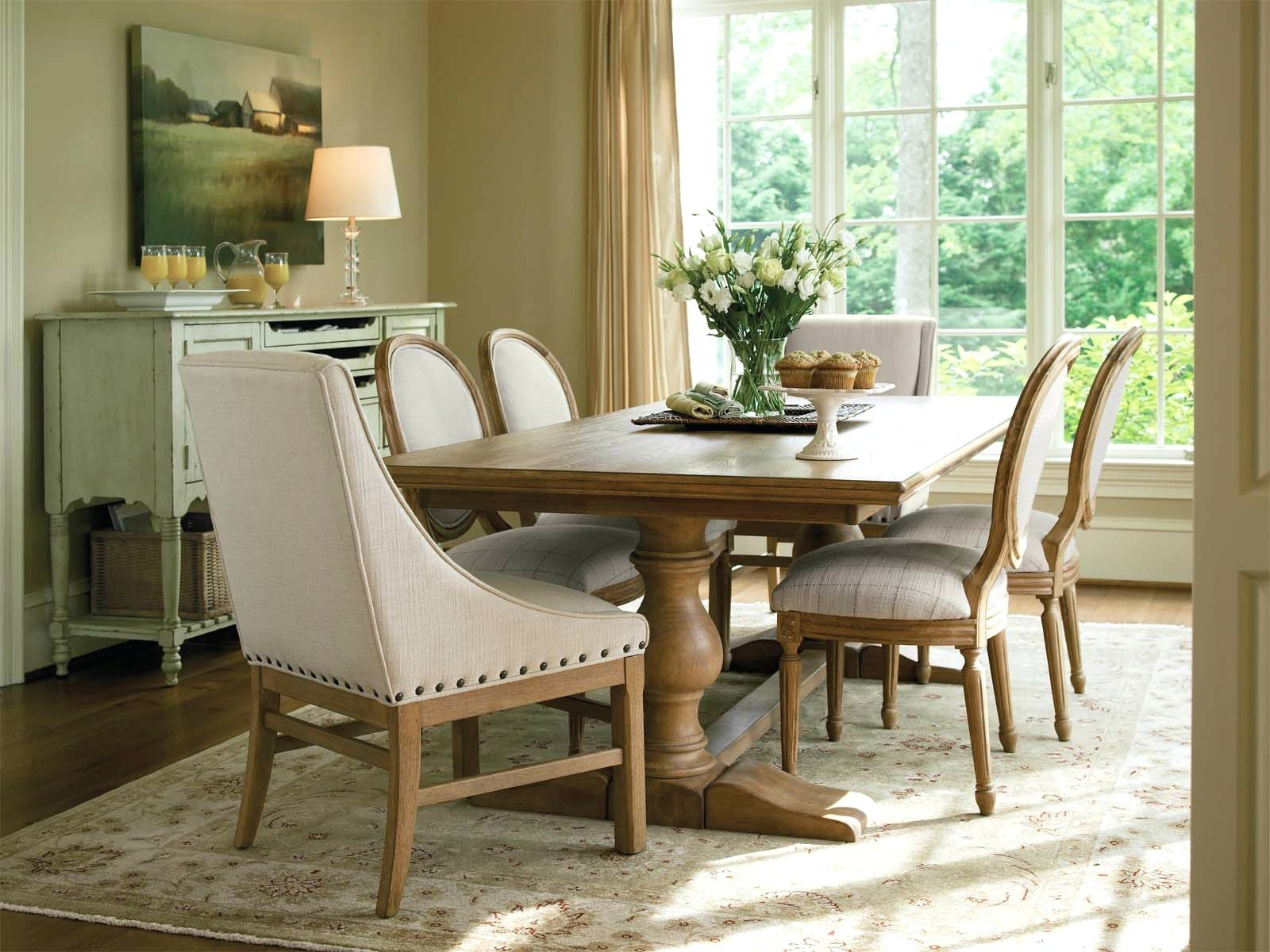 Most Current Country Dining Tables Throughout French Country Dining Table With Bench Country Style Dining Table (View 15 of 25)