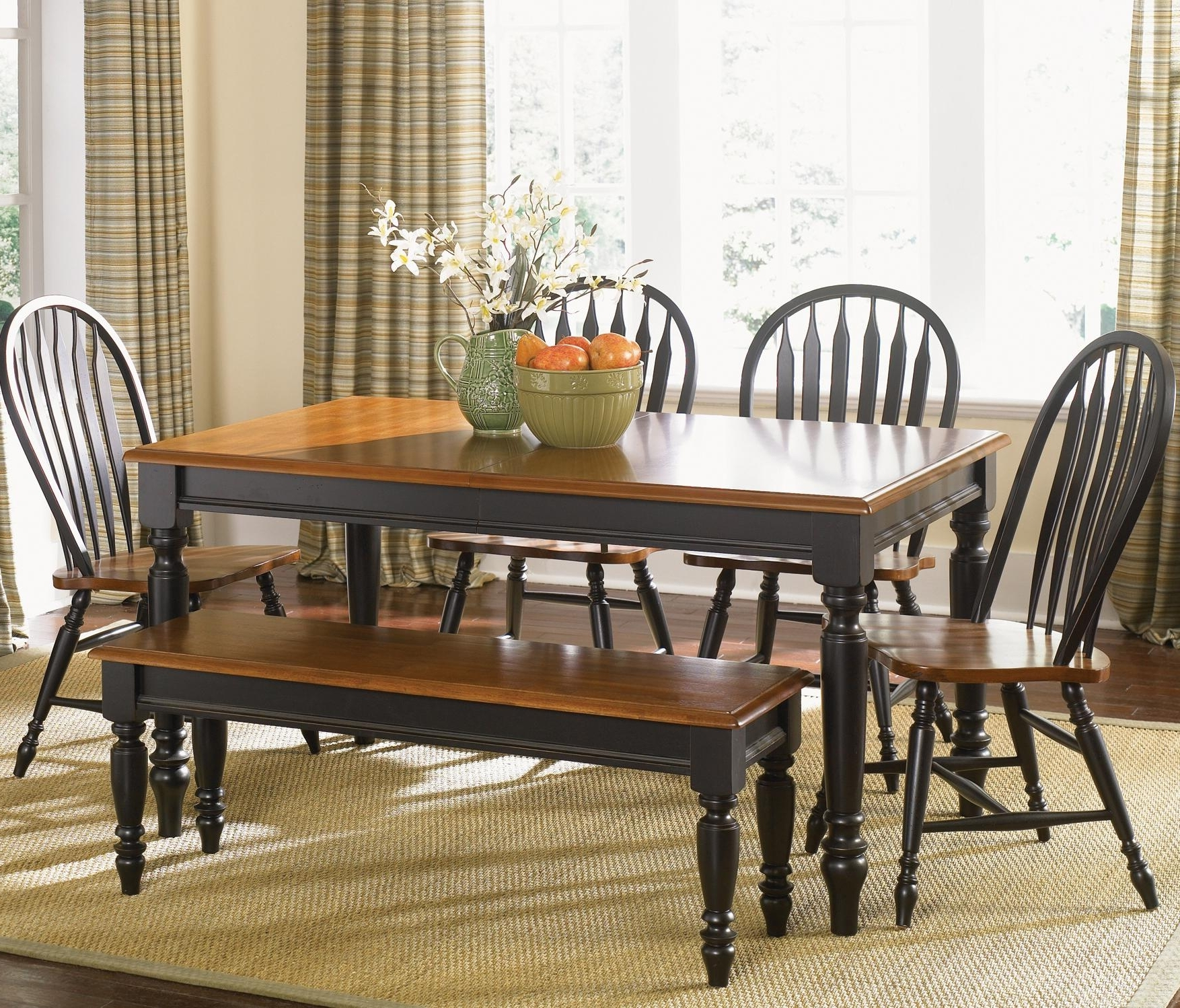 Most Current Country Dining Tables Throughout Rotmans Essentials 102 Low Country Six Piece Dining Set With Turned (View 16 of 25)