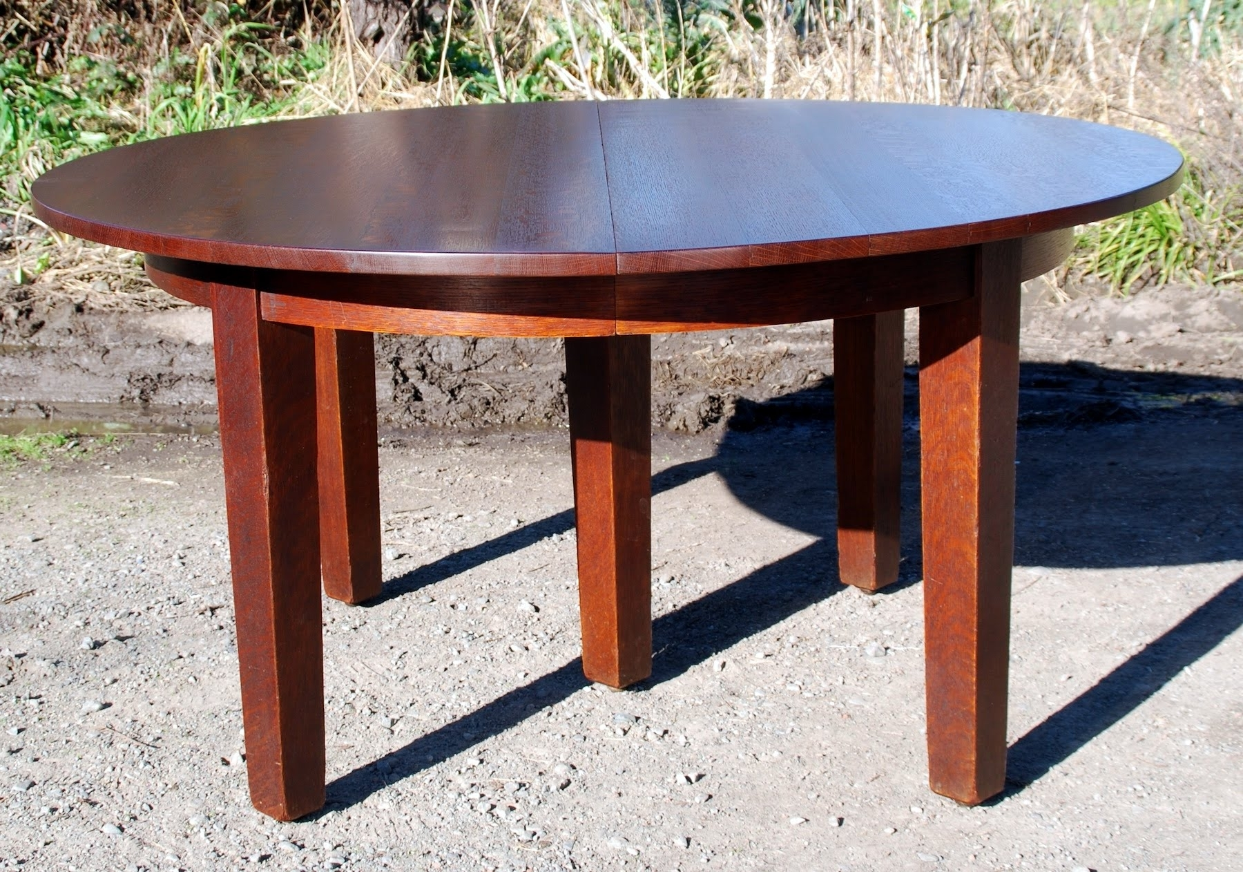 Most Current Craftsman Round Dining Tables Throughout Voorhees Craftsman Mission Oak Furniture – Gustav Stickley Original (View 17 of 25)