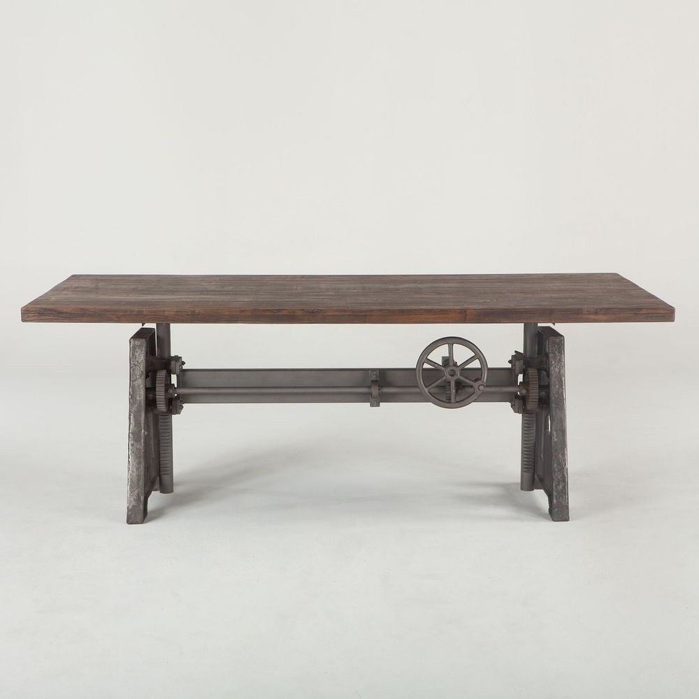 "Most Current Crank Dining Table Base Elegant 72"" L Crank Dining Table Solid Mango Throughout Mango Wood/iron Dining Tables (View 18 of 25)"