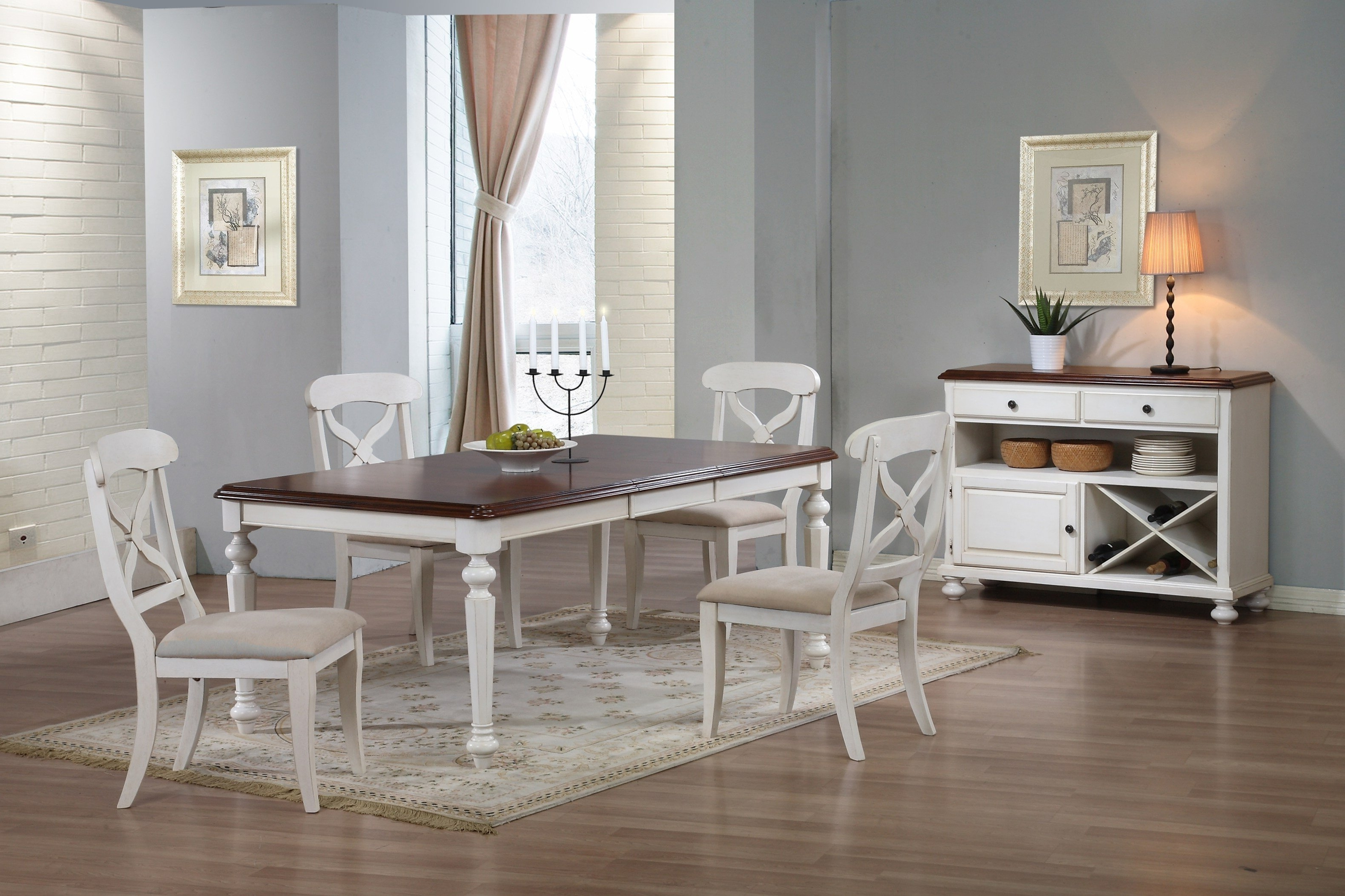 Most Current Dark Wood Dining Table With White Chairs White Wooden Dining Table Pertaining To Dark Wooden Dining Tables (View 21 of 25)