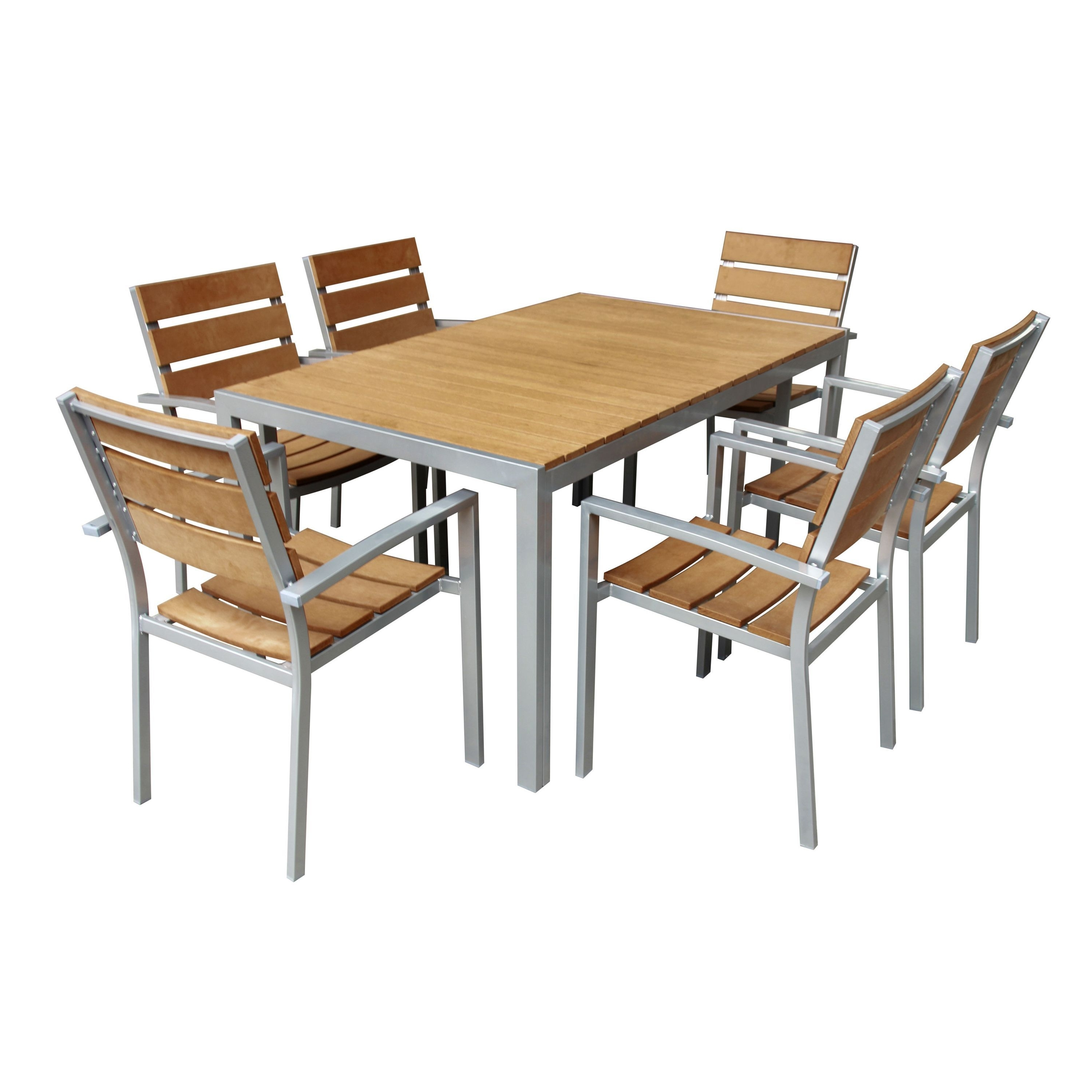 Most Current Delfina 7 Piece Dining Sets Intended For Add A Classic Touch To Your Patio With This Striking 7 Piece Dinging (View 16 of 25)