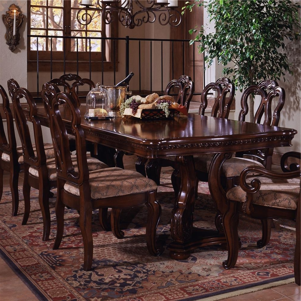 Most Current Dining Tables New York Within Samuel Lawrence San Marino Pedestal Extension Formal Dining Table (View 14 of 25)